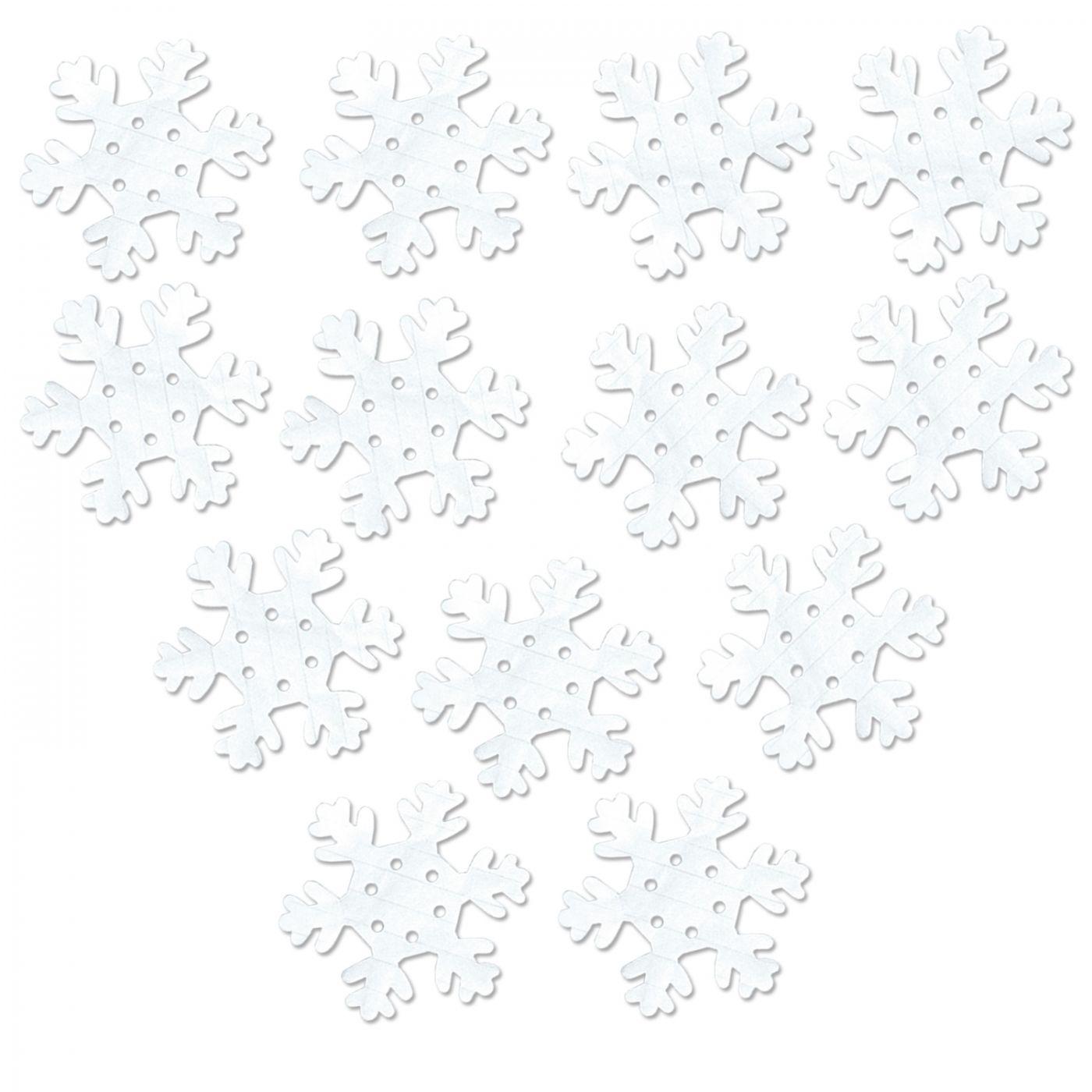 FR White Tissue Snowflakes (24) image