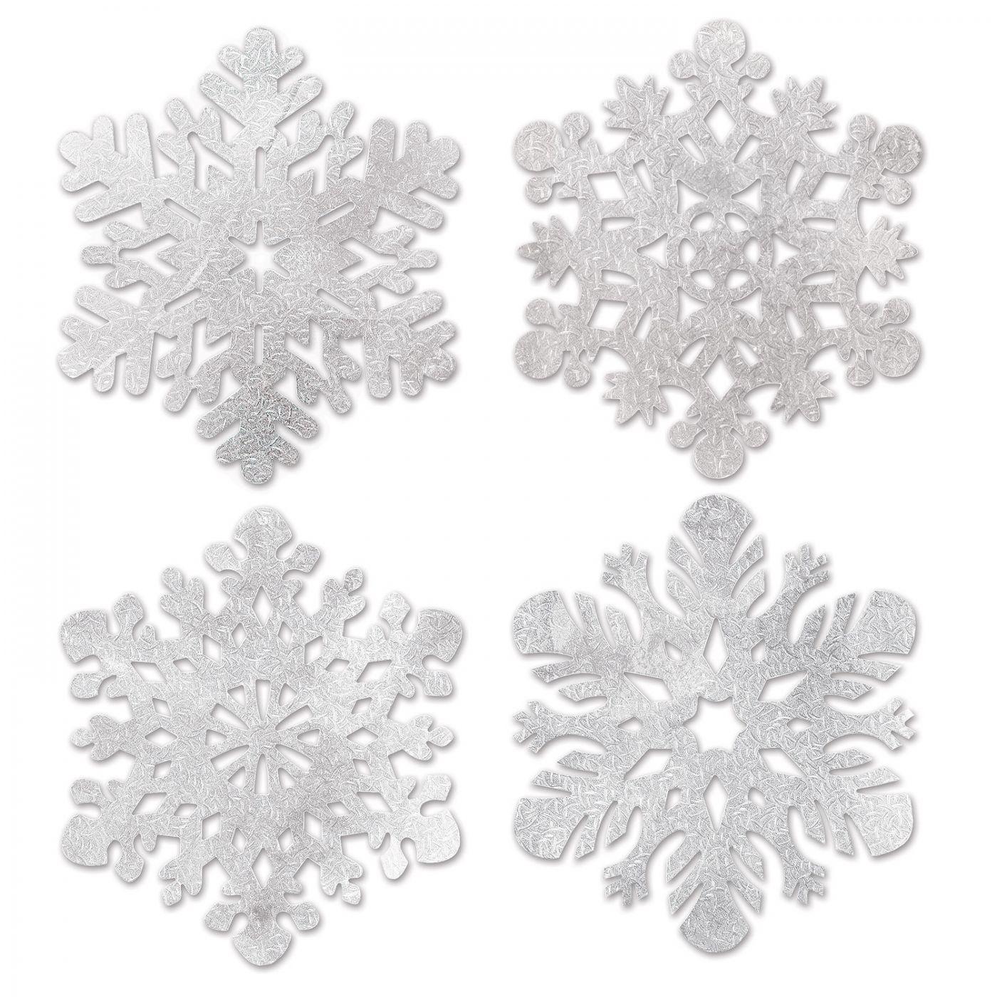 Pkgd Foil Snowflake Cutouts image