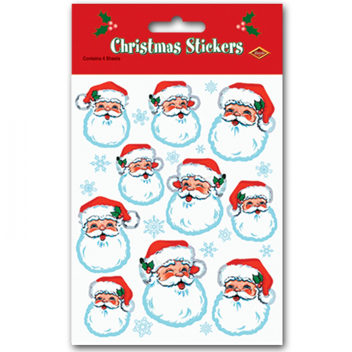 Santa Face Stickers image