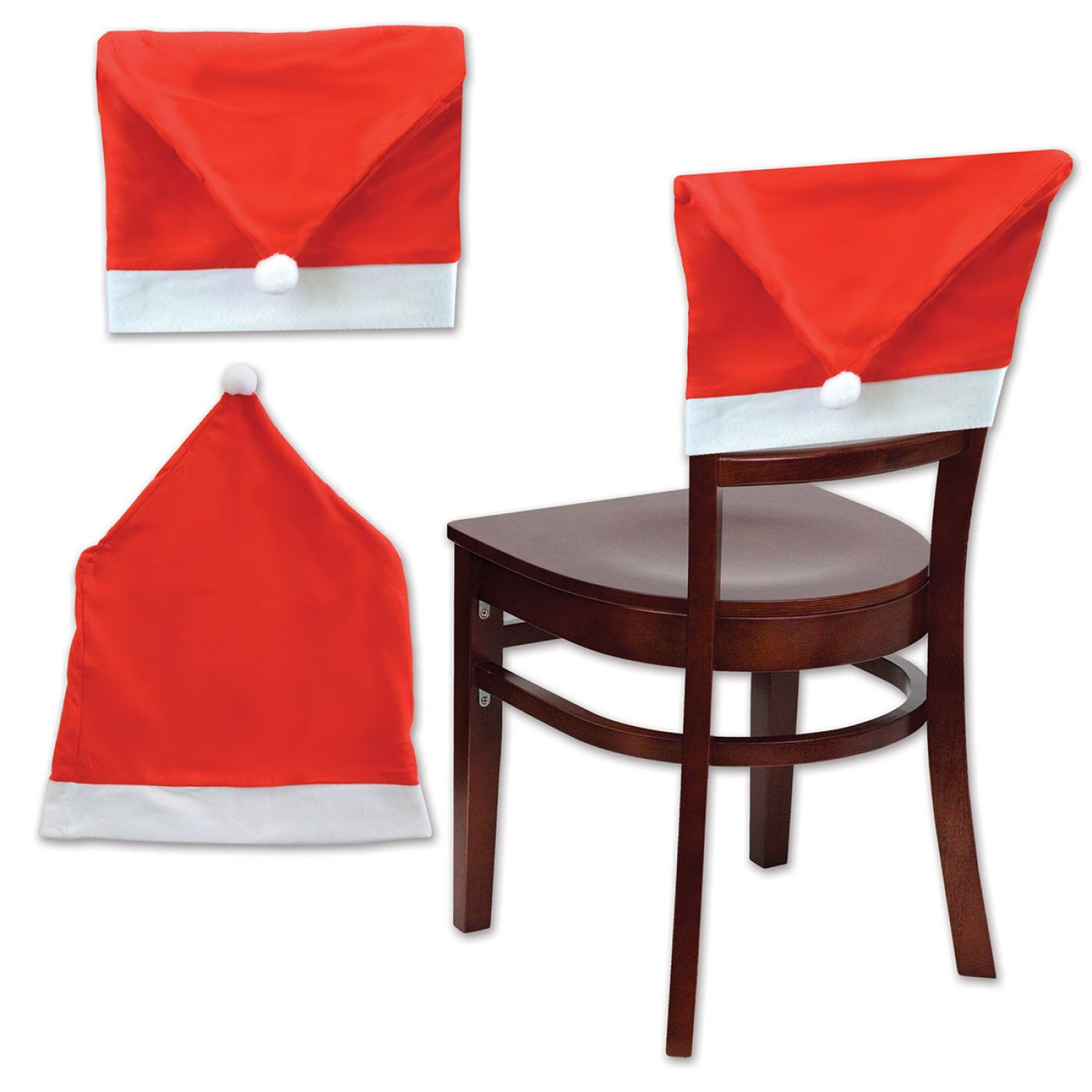 Santa Hat Chair Cover image