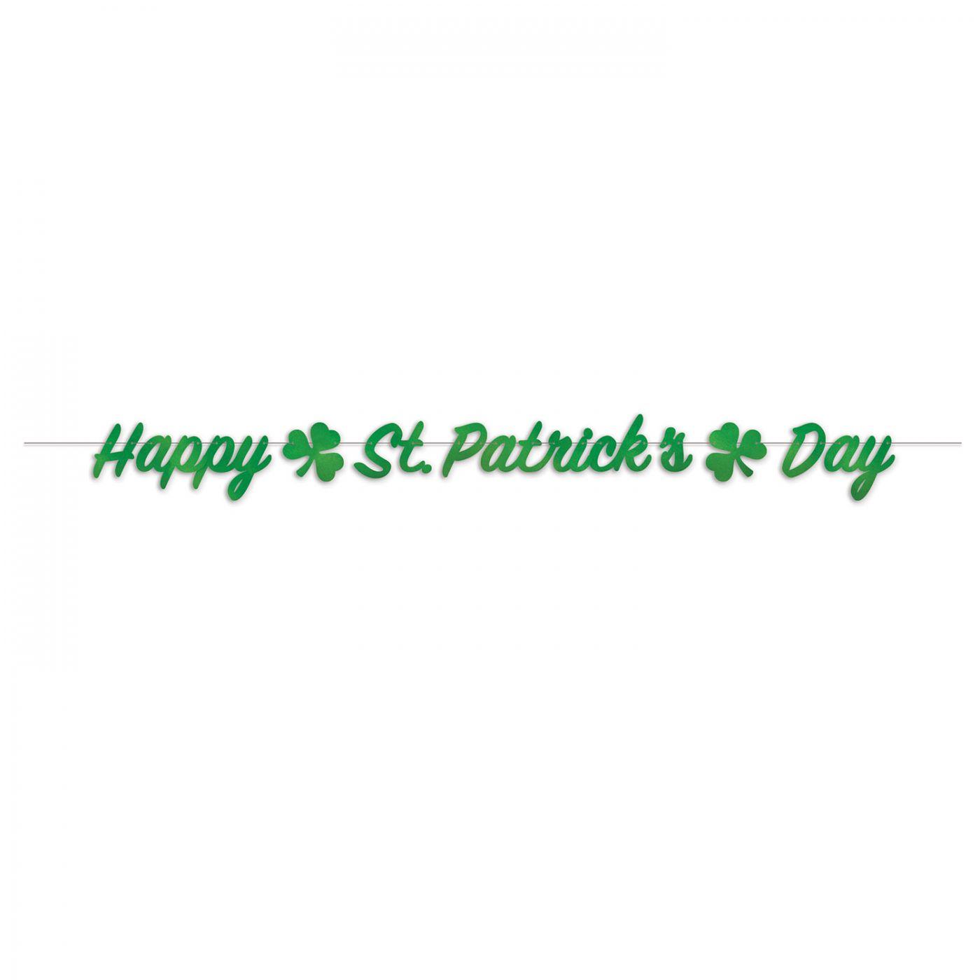 Foil Happy St. Patrick's Day Streamer image