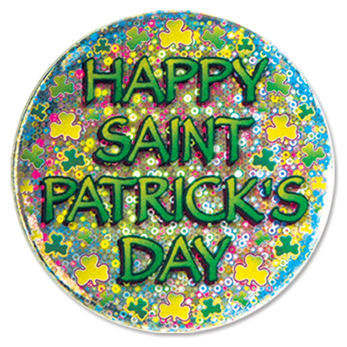Happy St Patrick's Day Button image