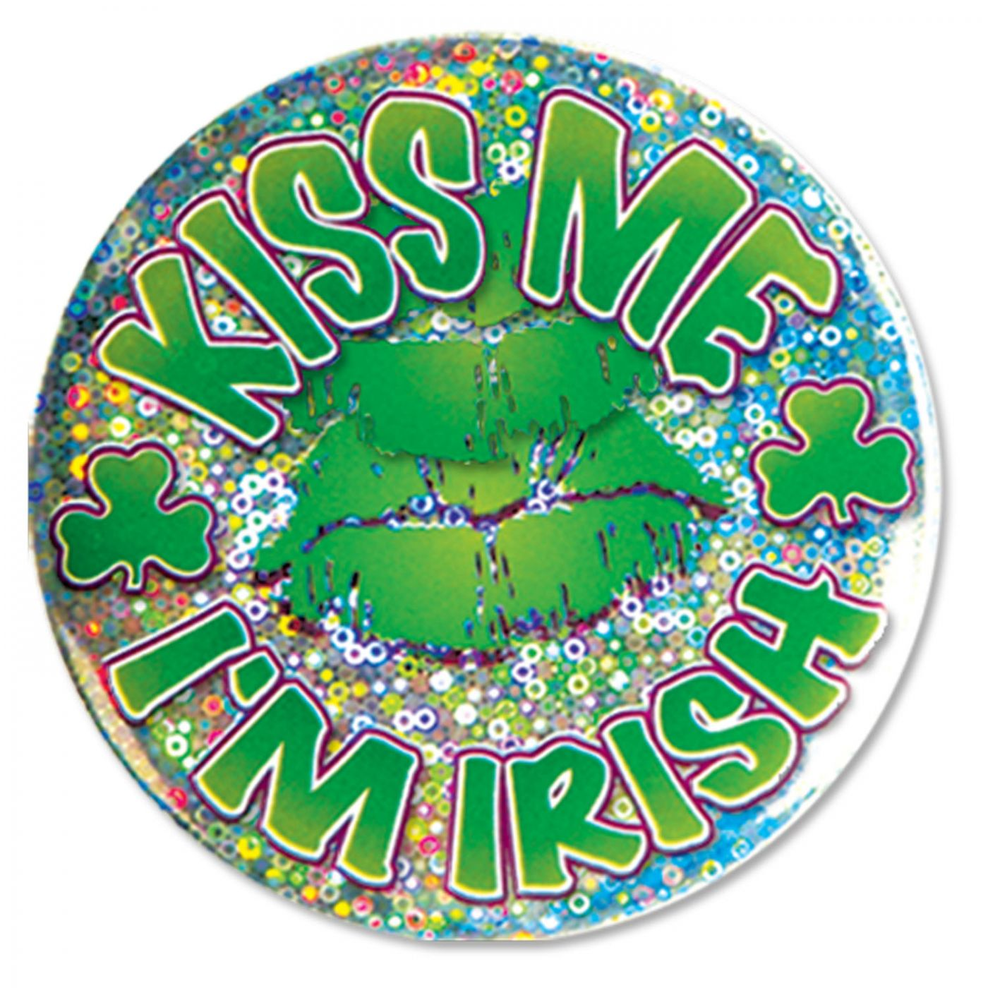 Kiss Me I'm Irish Button image