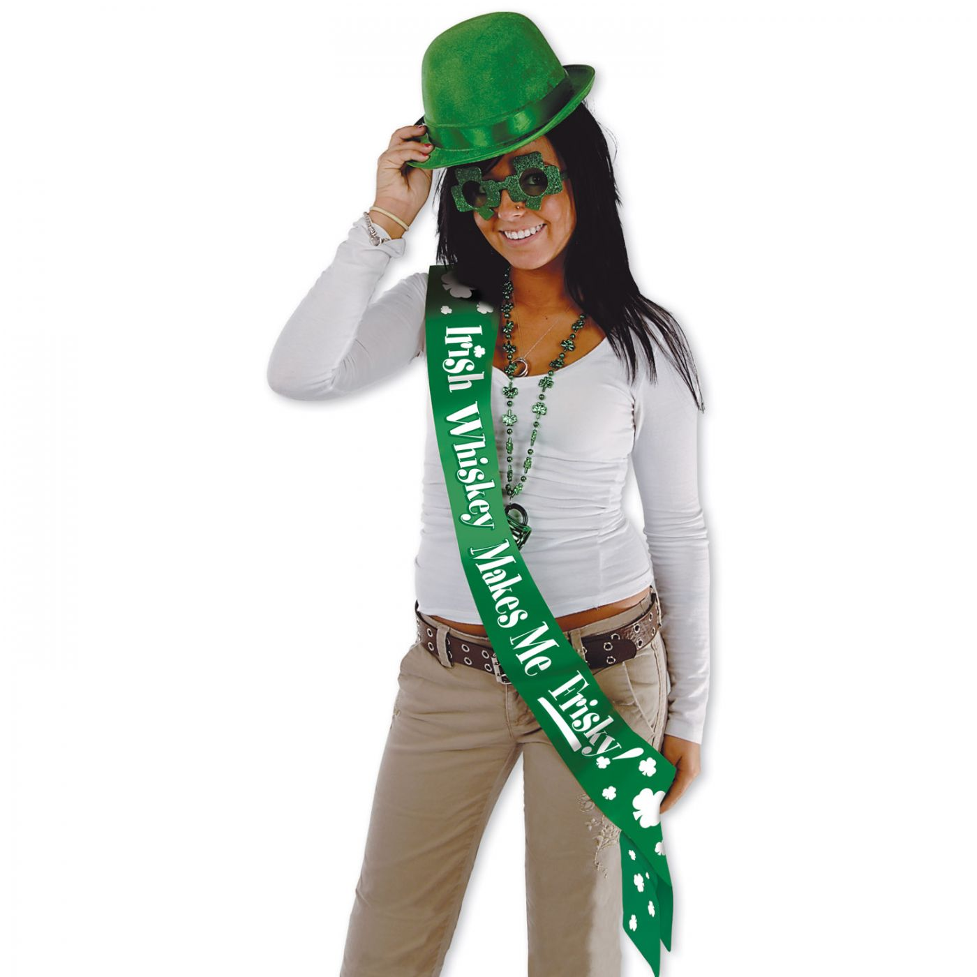 Irish Whiskey Makes Me Frisky! Satn Sash (6) image