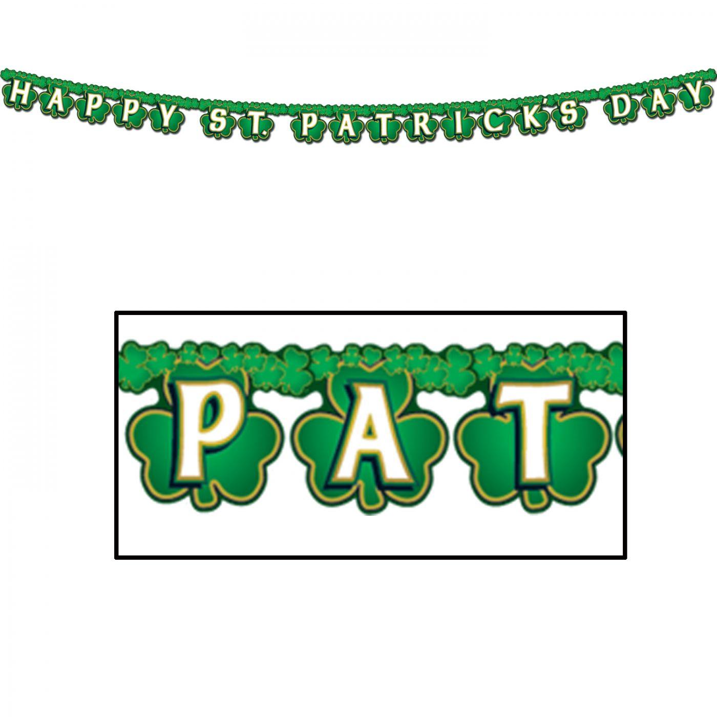 Shamrock Happy St Patrick's Day Streamer image