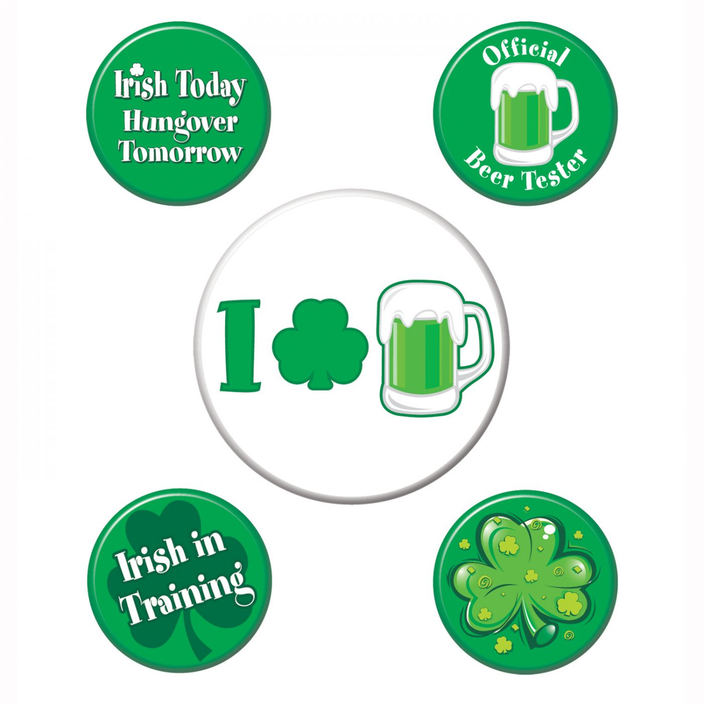 St Patrick's Party Buttons image