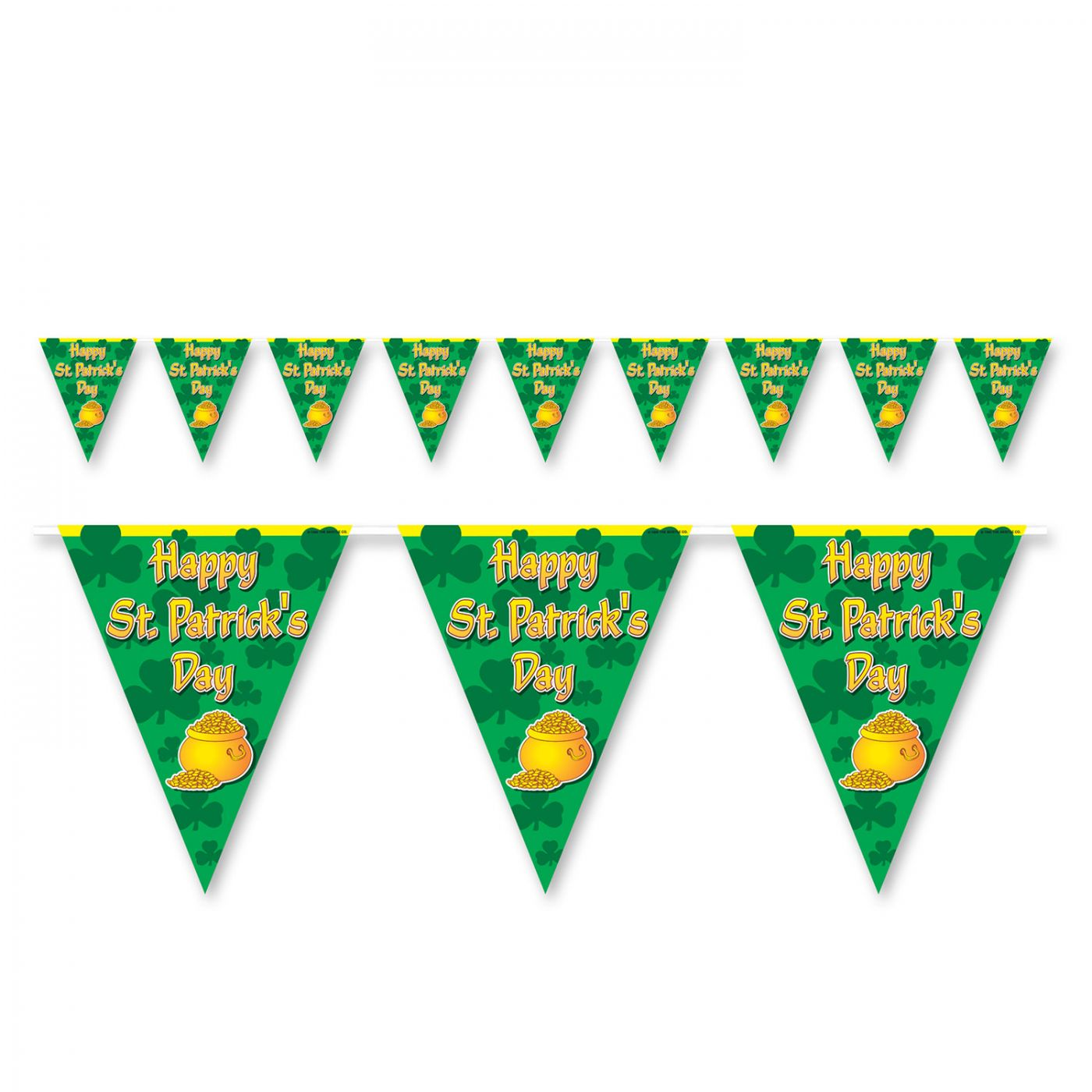 Happy St Patrick's Day Pennant Banner image