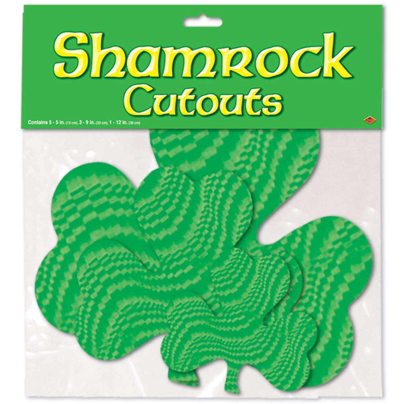 Embossed Foil Shamrock Cutouts image
