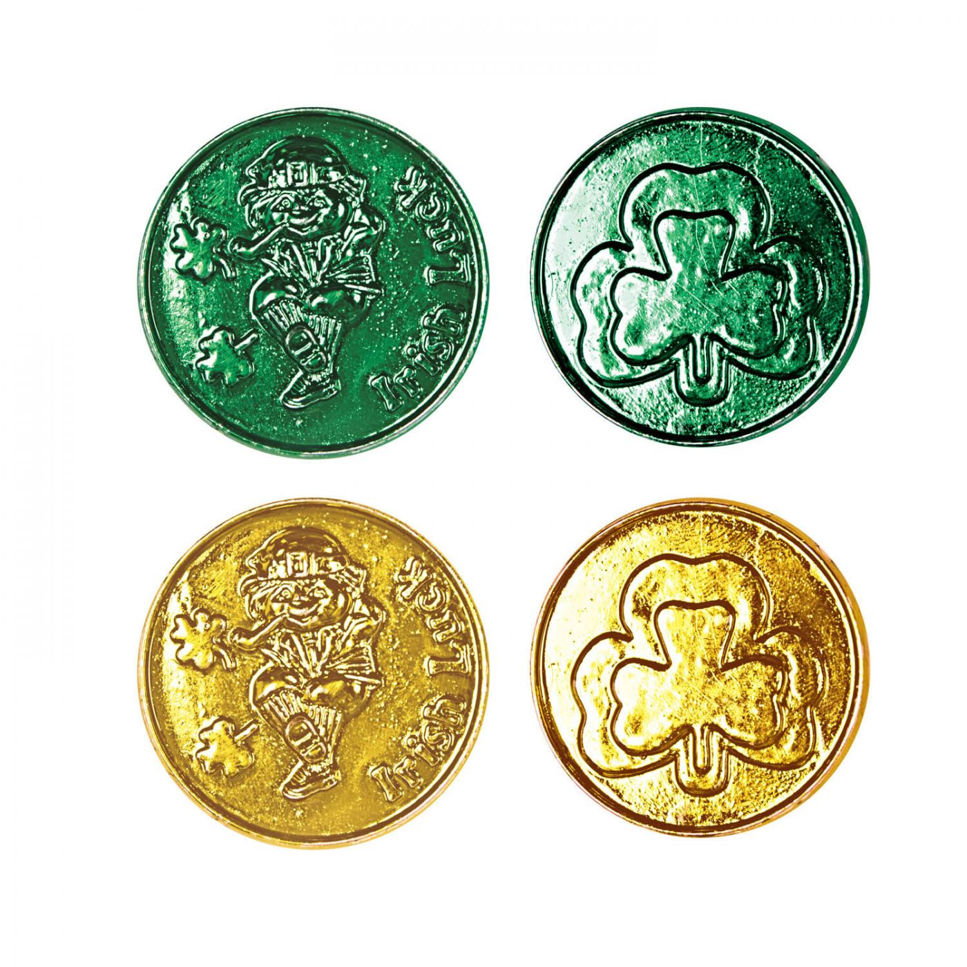 Lucky Leprechaun Plastic Coins image