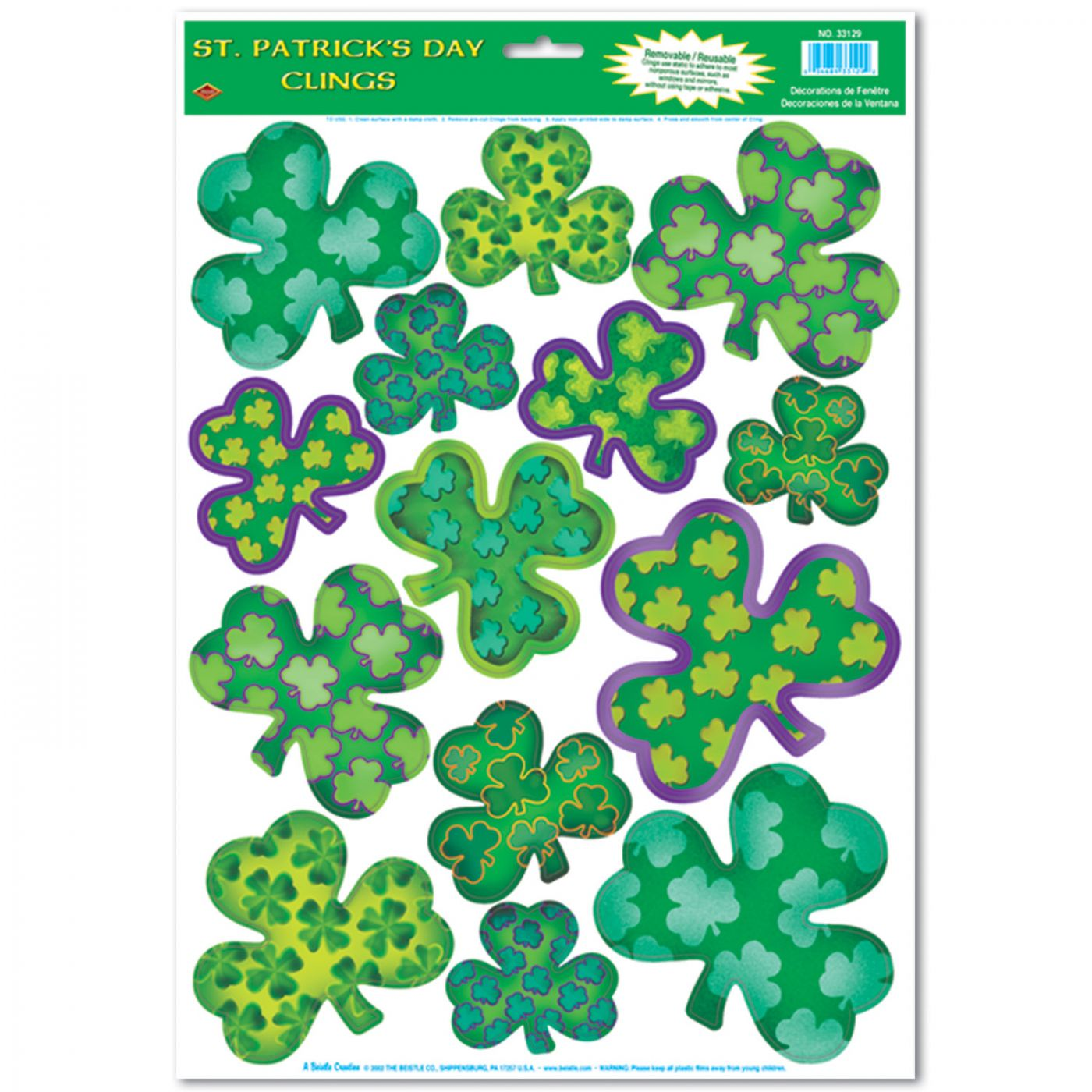 Irish-Mood Shamrock Clings image