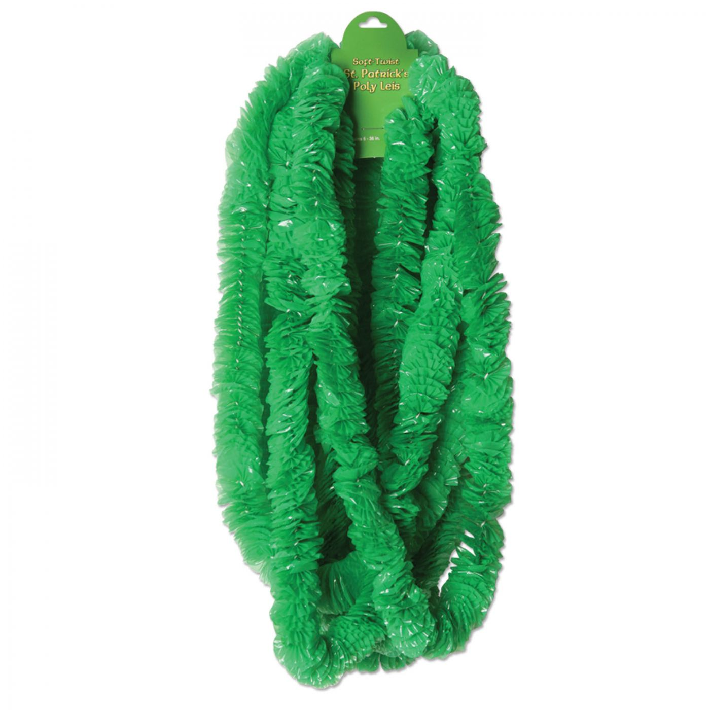 Soft-Twist St Patrick's Poly Leis (144) image