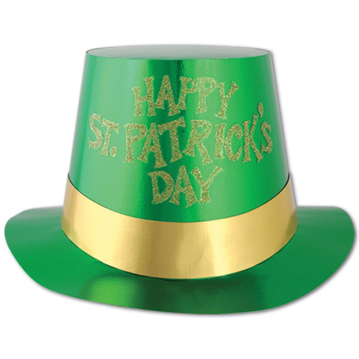 Glittered St Patrick's Day Foil Hi-Hat (25) image