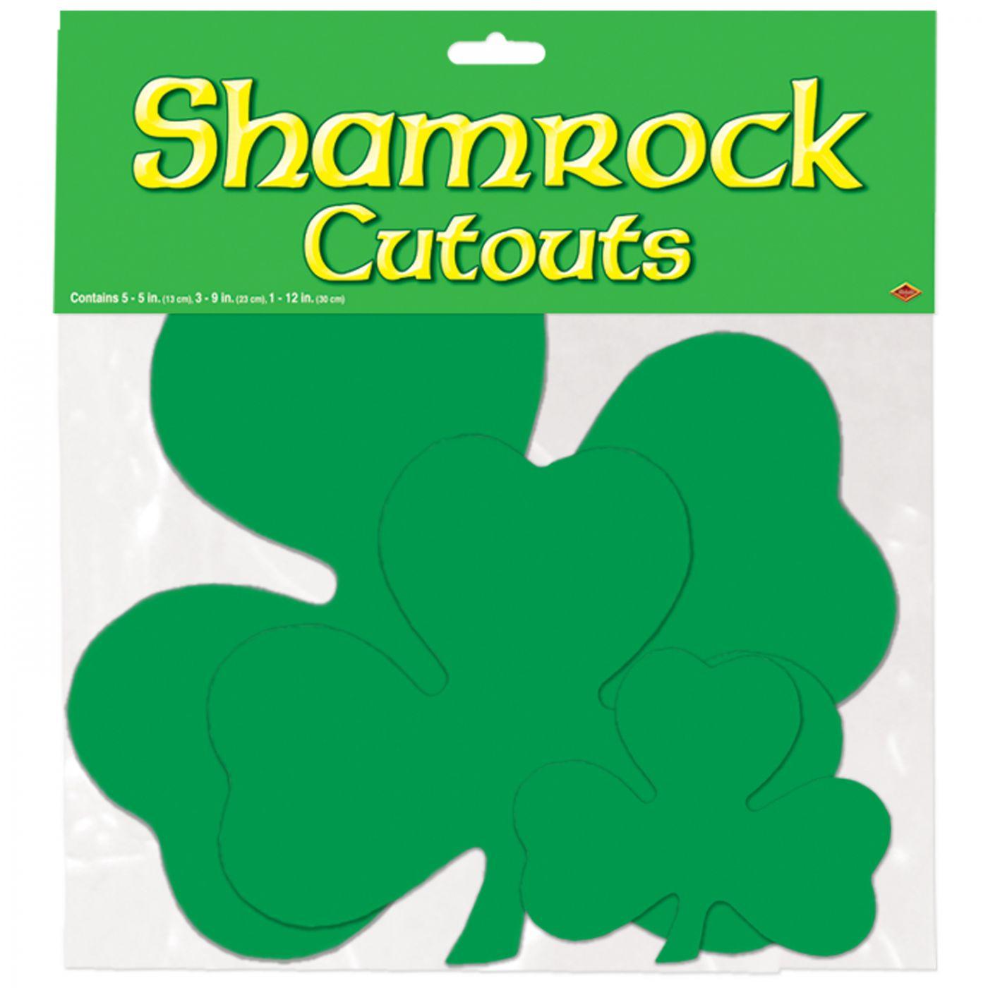Pkgd Printed Shamrock Cutouts (24) image