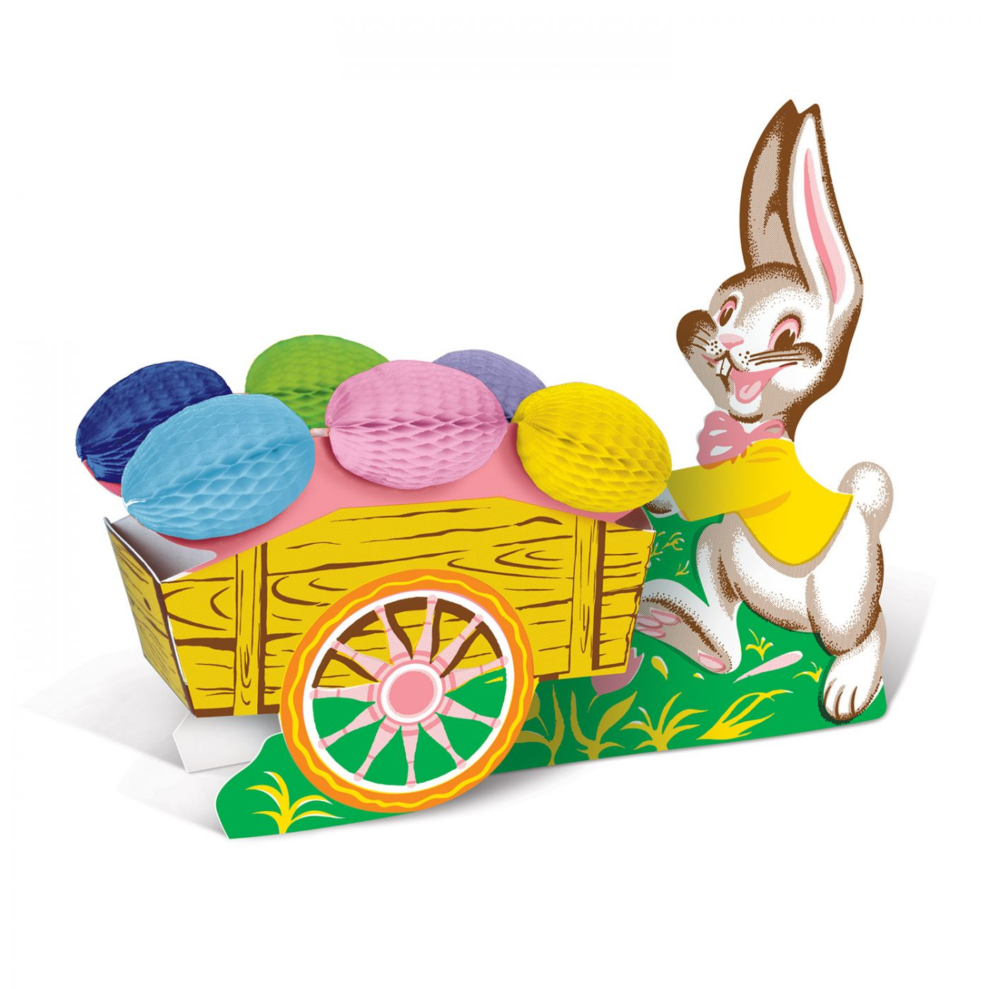 Vintage Easter Bunny w/Cart image