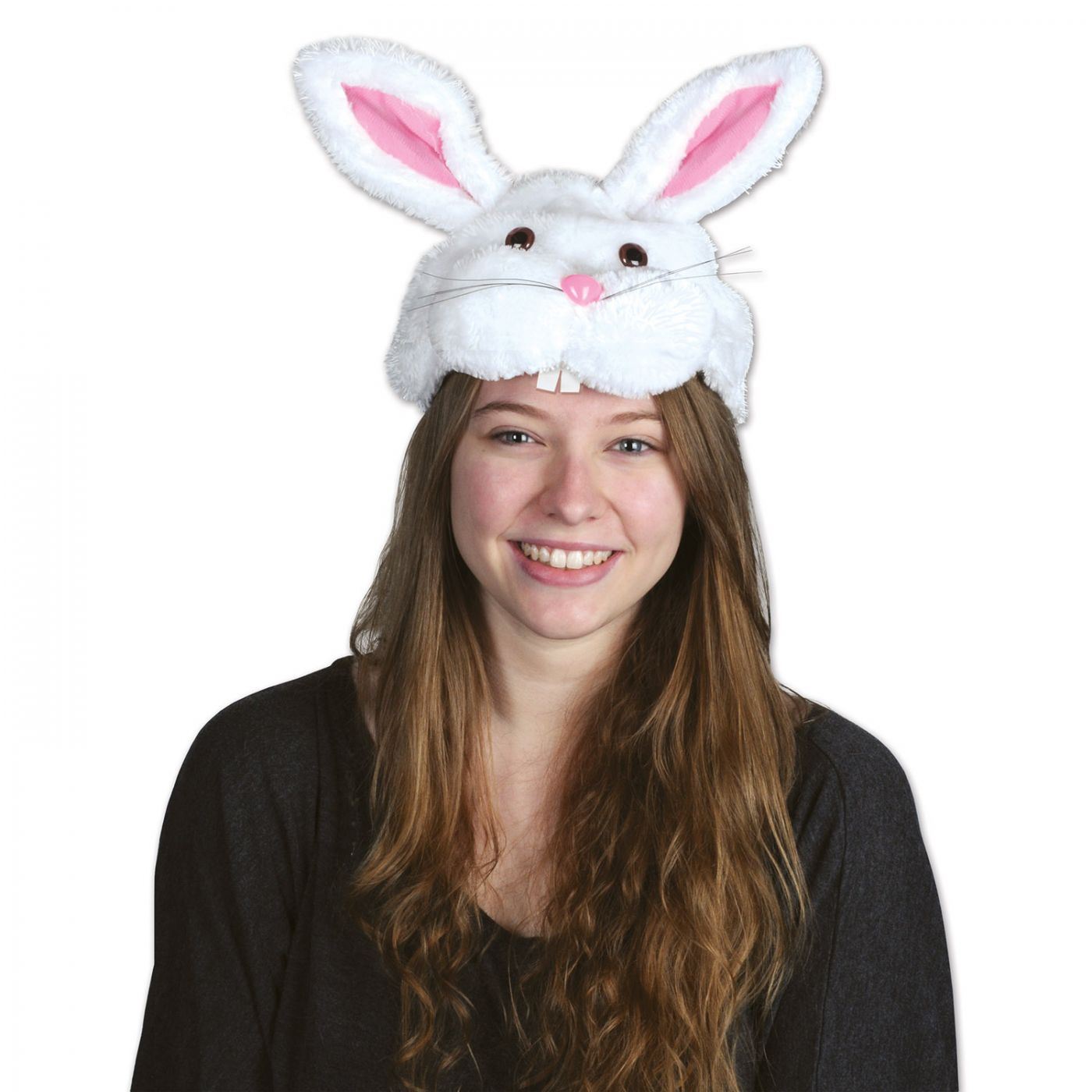 Plush Bunny Head Hat image
