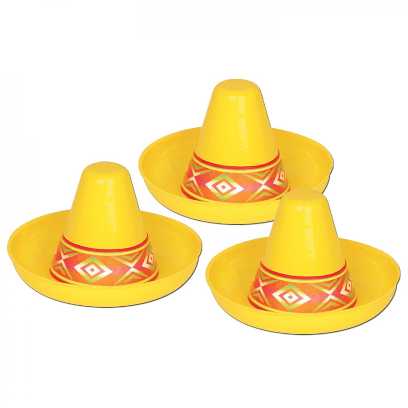 Miniature Yellow Plastic Sombrero (48) image