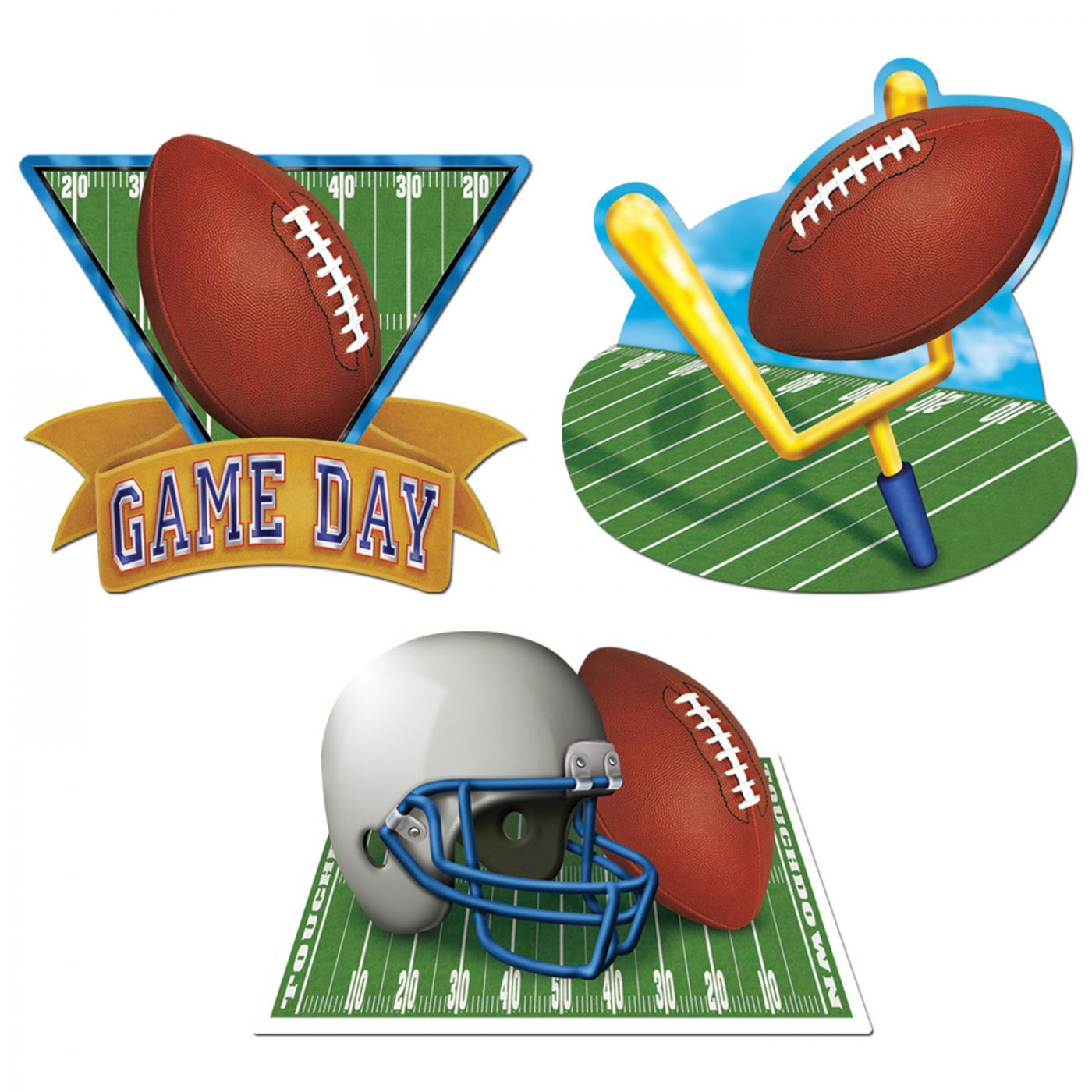 Game Day Football Cutouts image