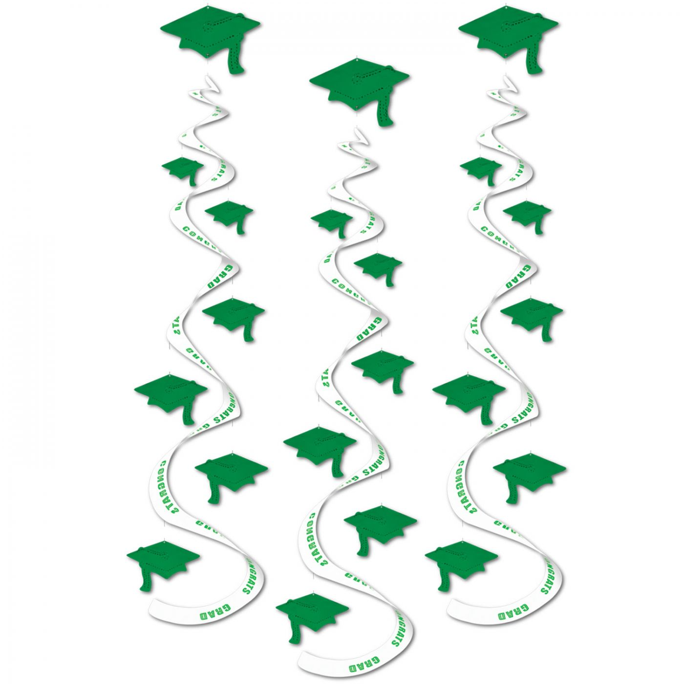 Printed Grad Cap Whirls (6) image