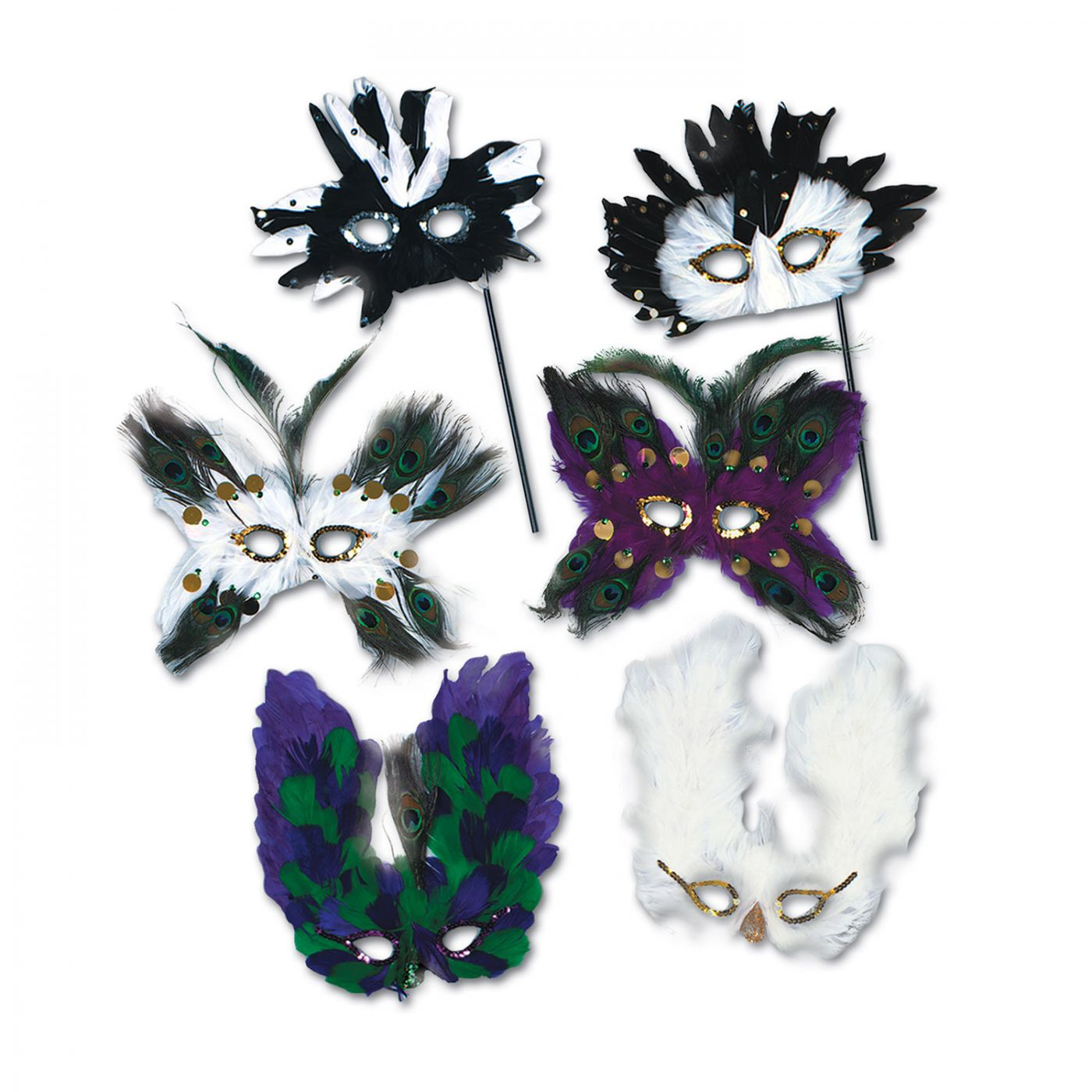 Image of Ultima Fanci-Feather Masks