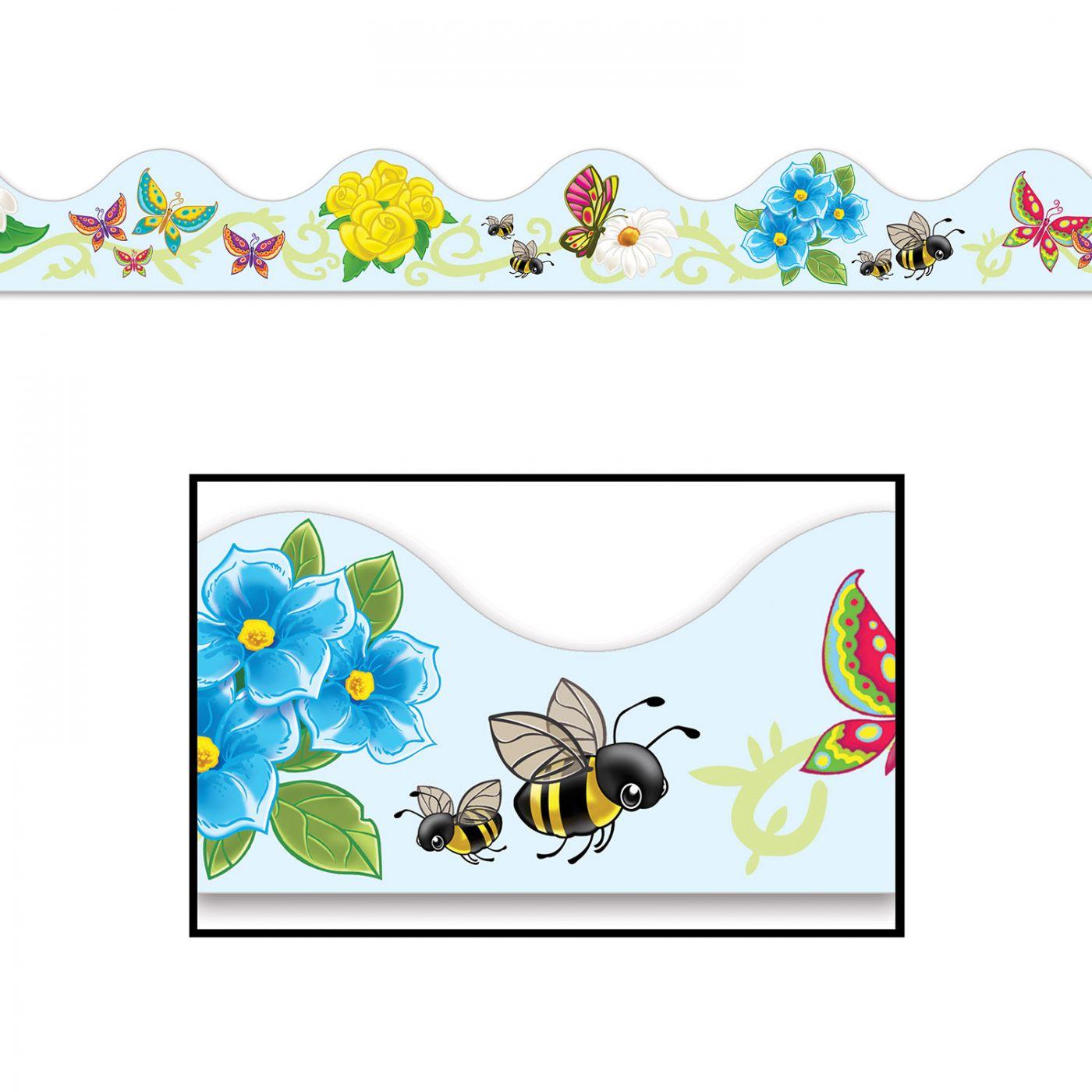 Butterflies & Flowers Border Trim image