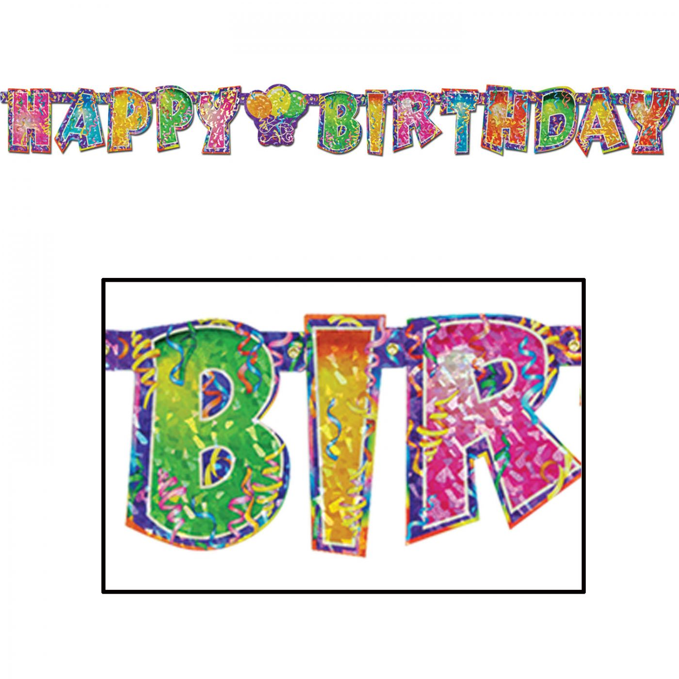 Image of Prismatic Happy Birthday Streamer