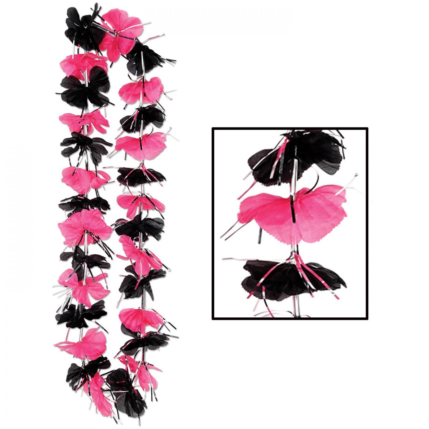 Pink & Black Party Lei image