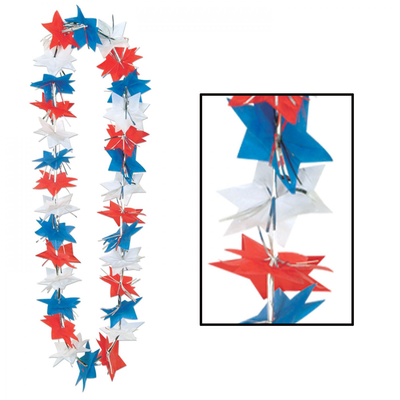 Patriotic Star Party Lei image