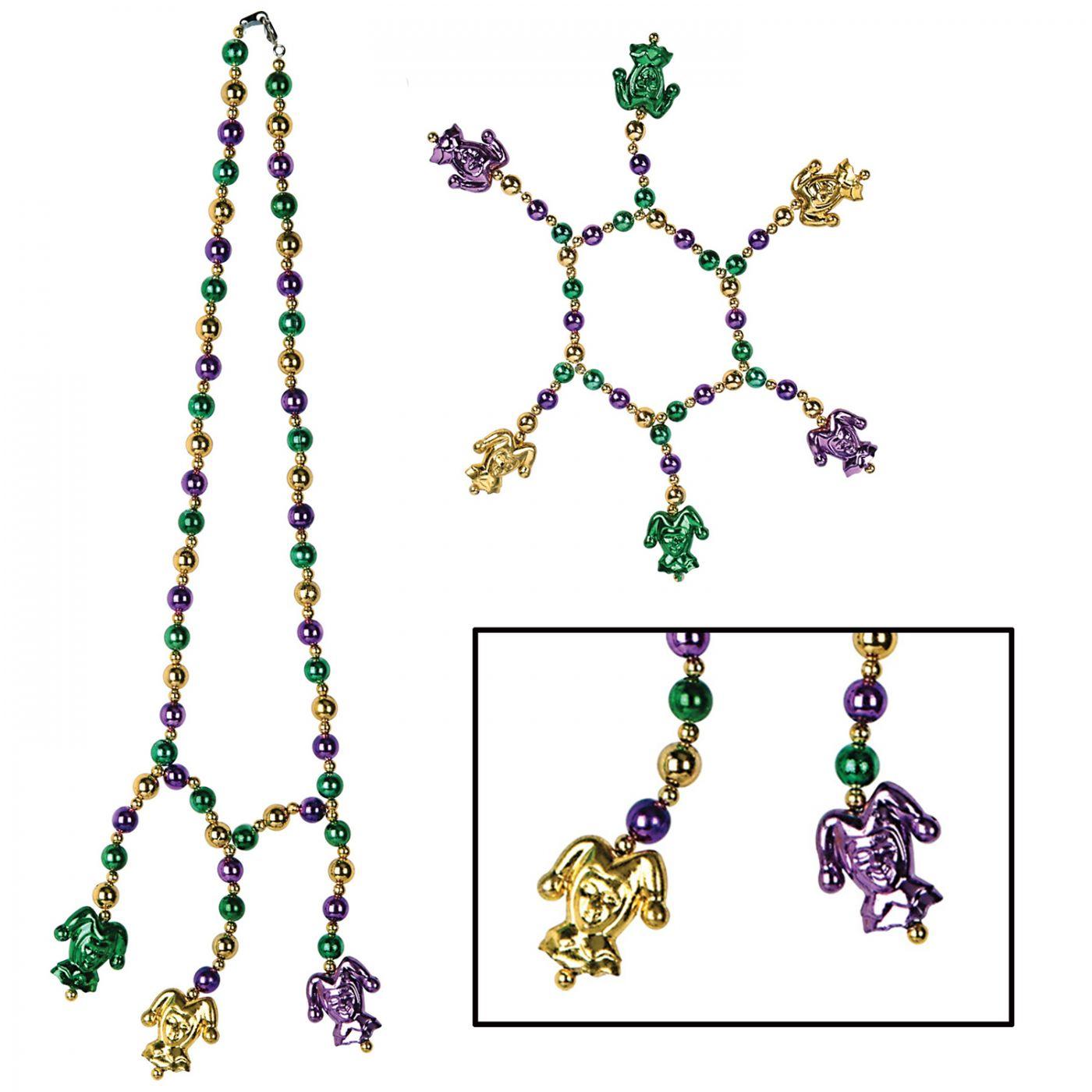 Mardi Gras Beads Choker/Bracelet Set image