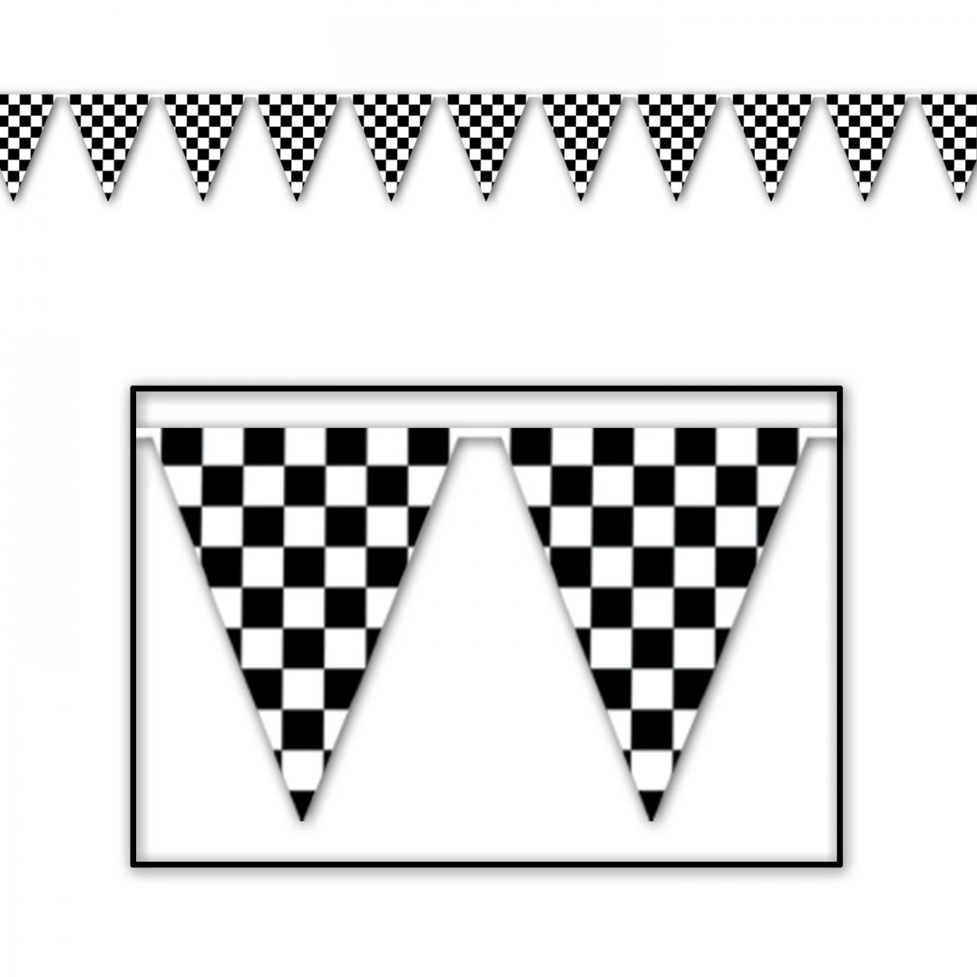 Checkered Pennant Banner image