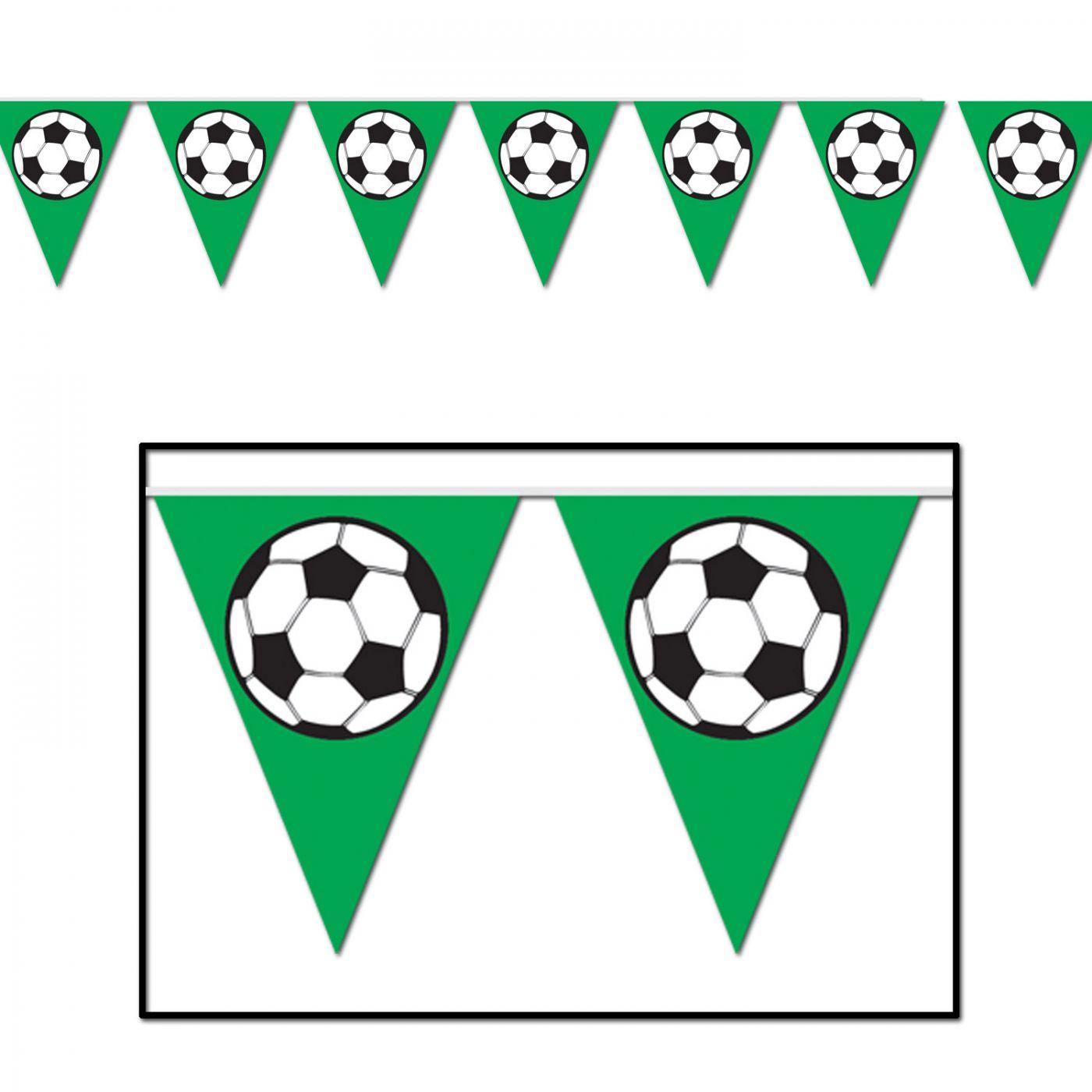 Soccer Ball Pennant Banner image