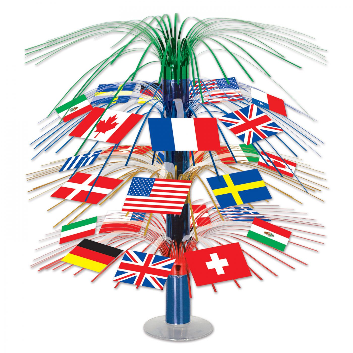 International Flag Cascade Centerpiece (6) image