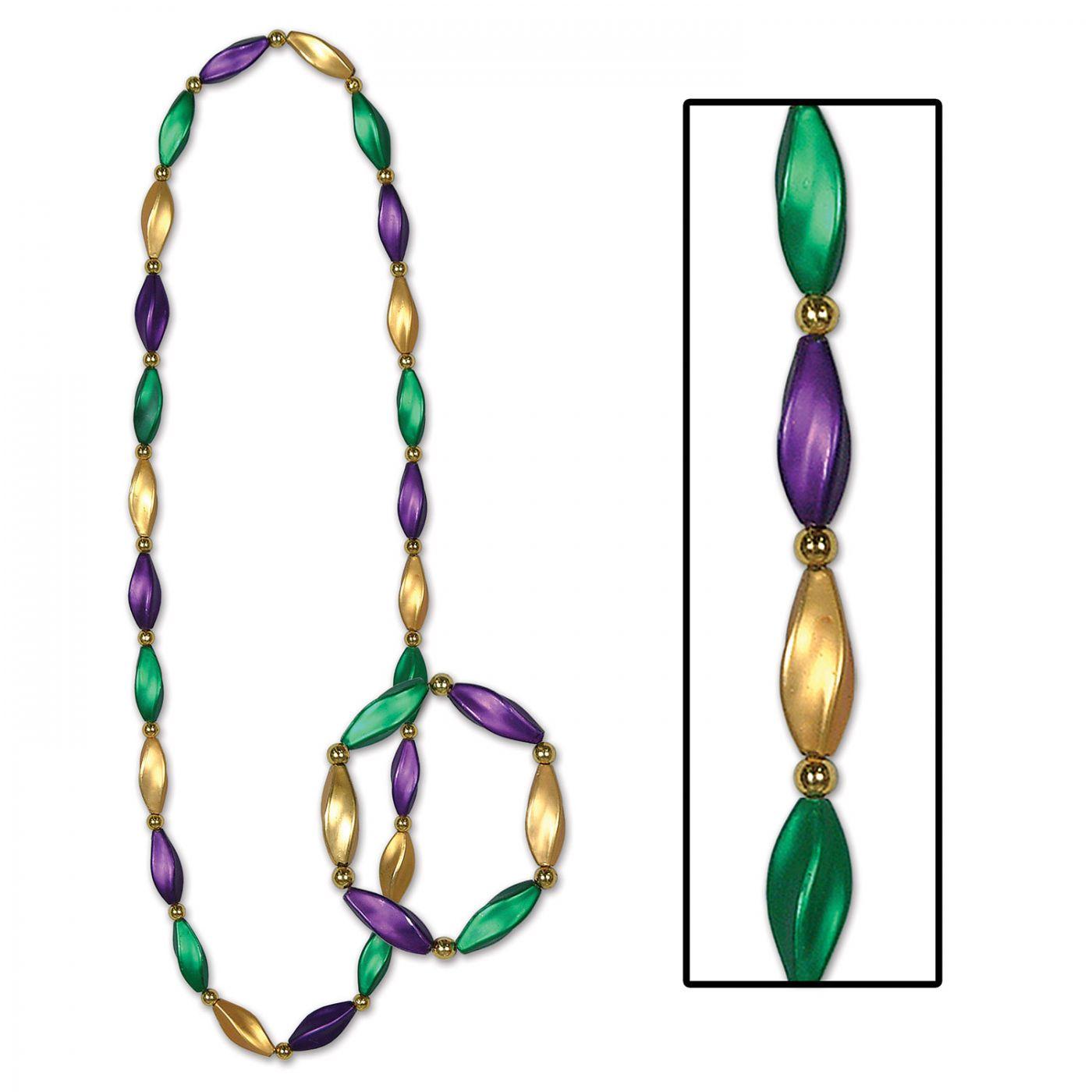 Satin Swirl Beads/Bracelet Set image