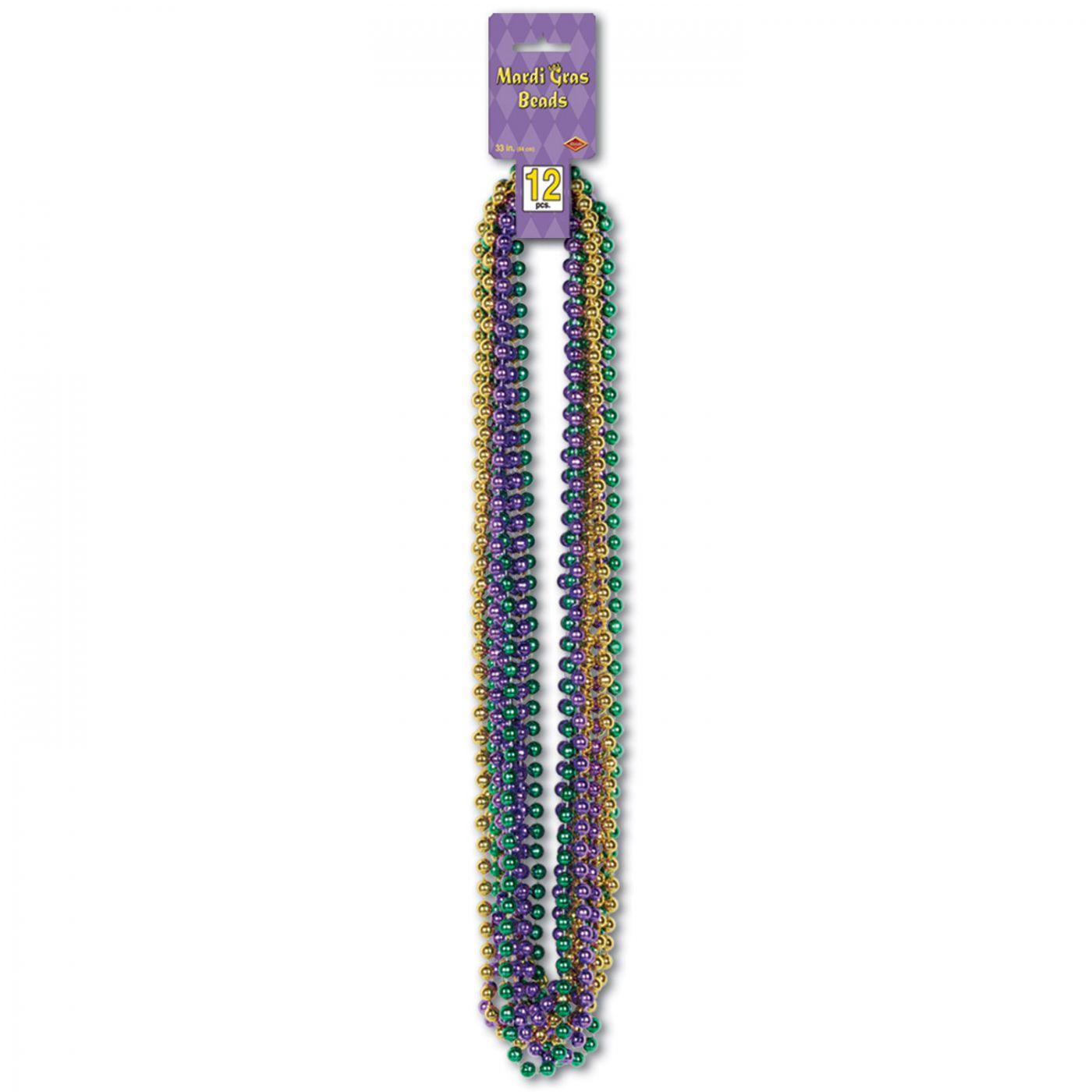 Mardi Gras Small Round Beads image