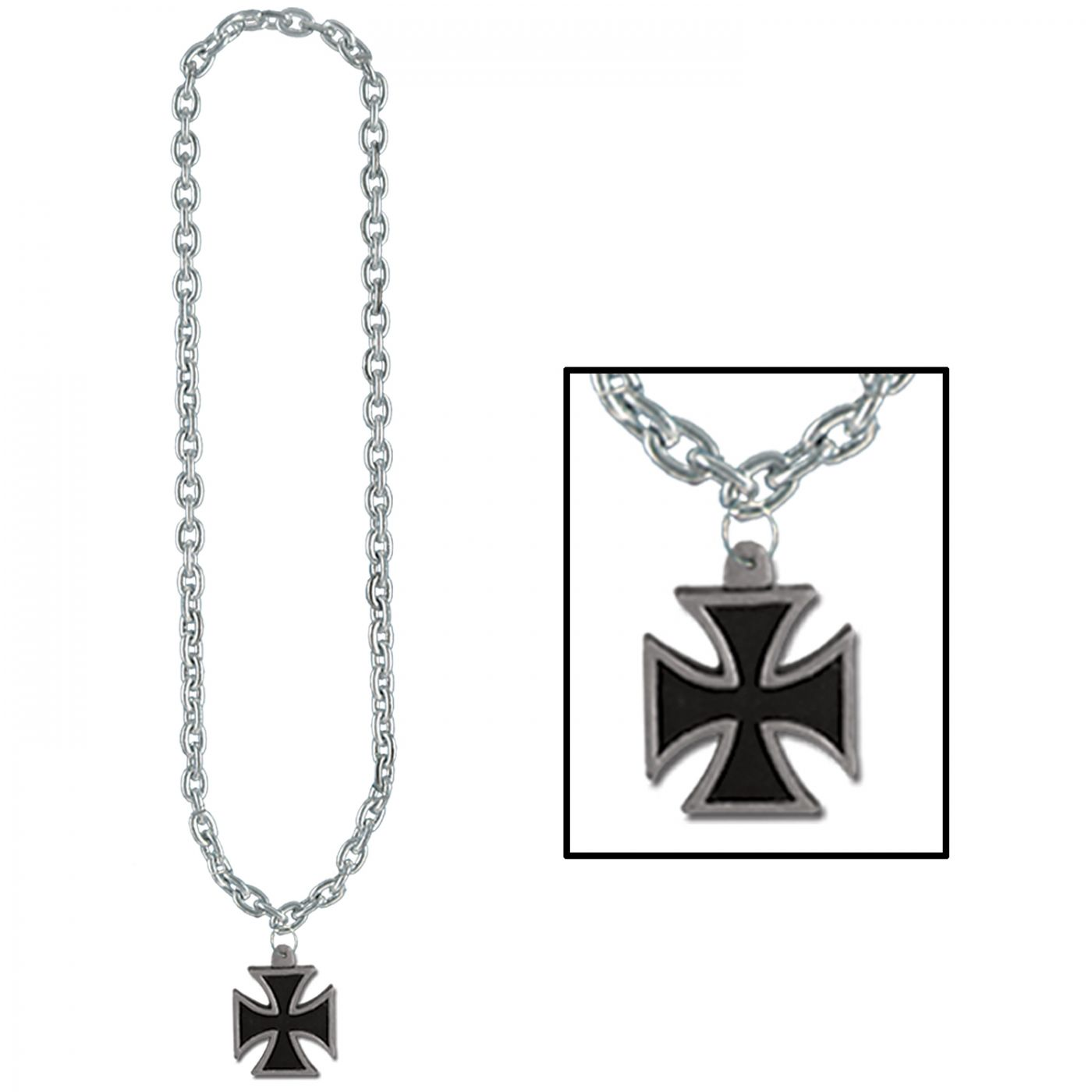 Chain Beads w/Iron Cross Medal image