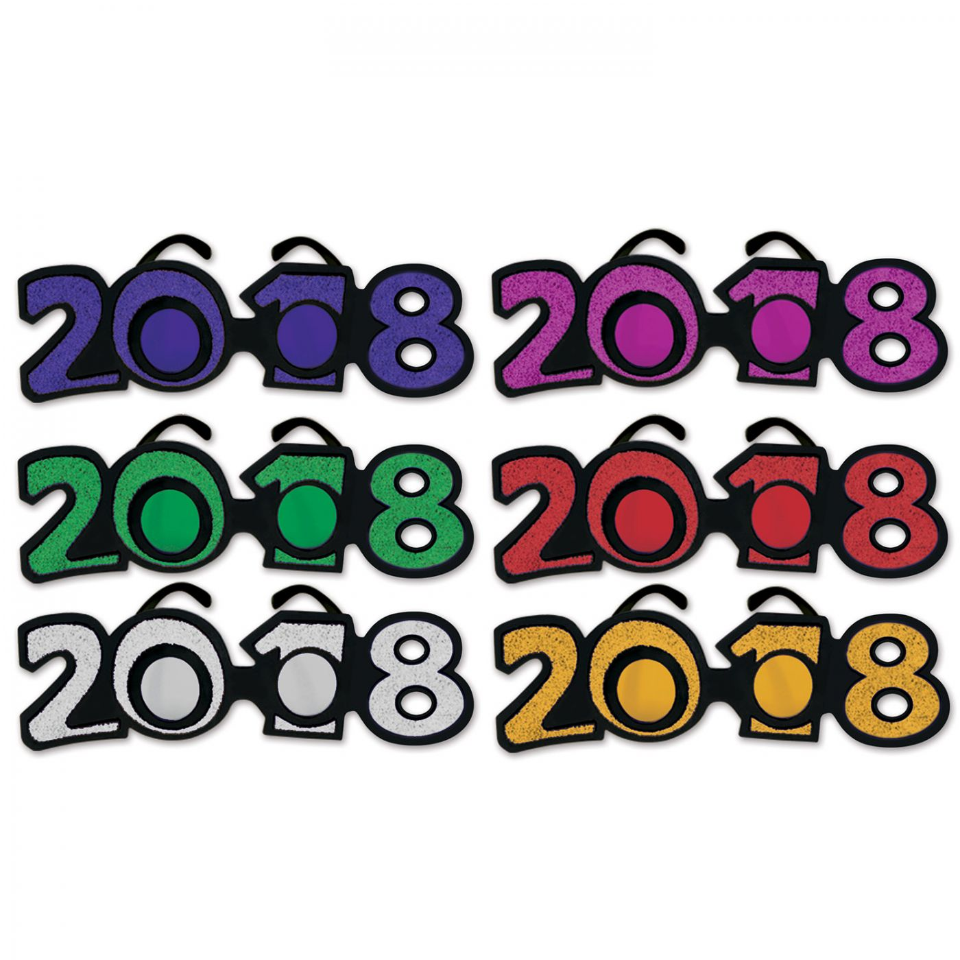 Image of  2018  Glittered Plastic Eyeglasses