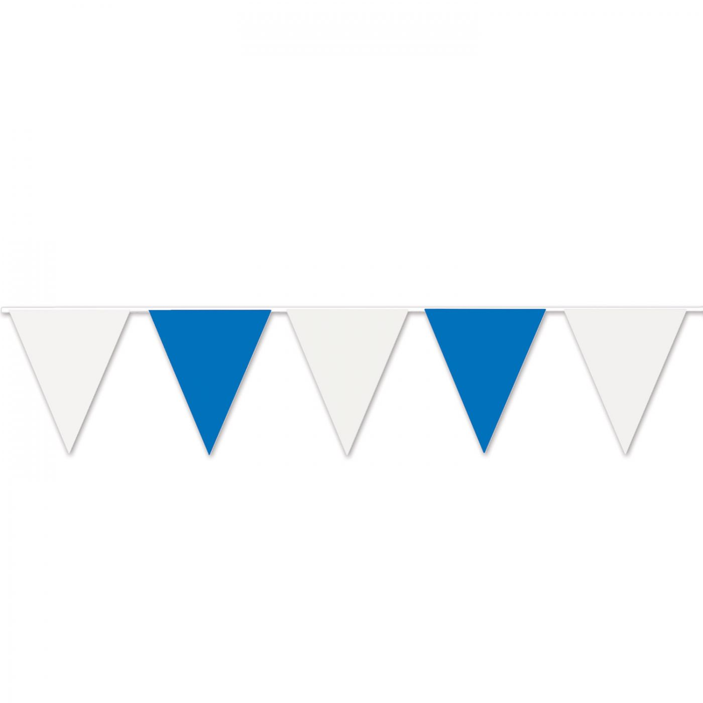 Image of Blue & White Pennant Banner