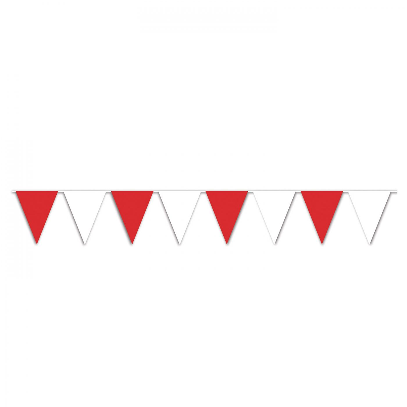 Image of Red & White Pennant Banner