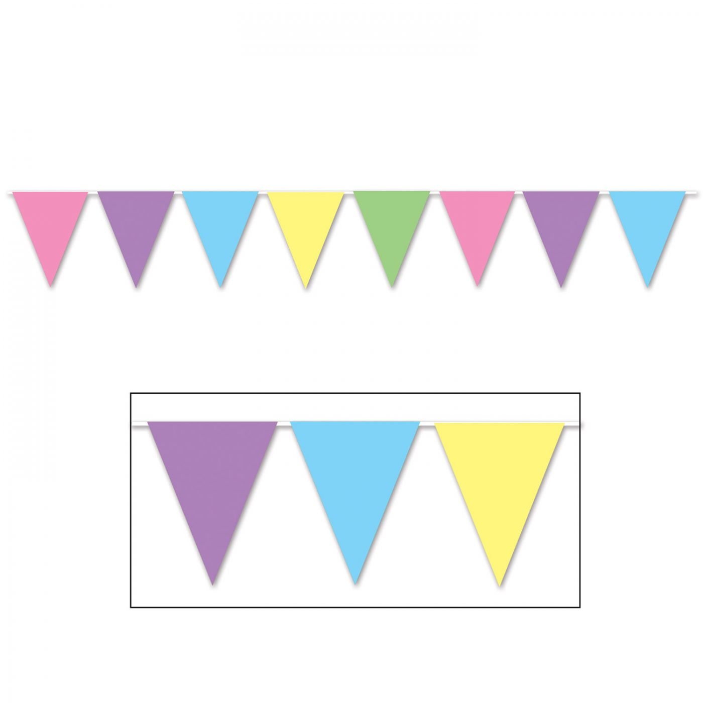 Pastel Pennant Banner image