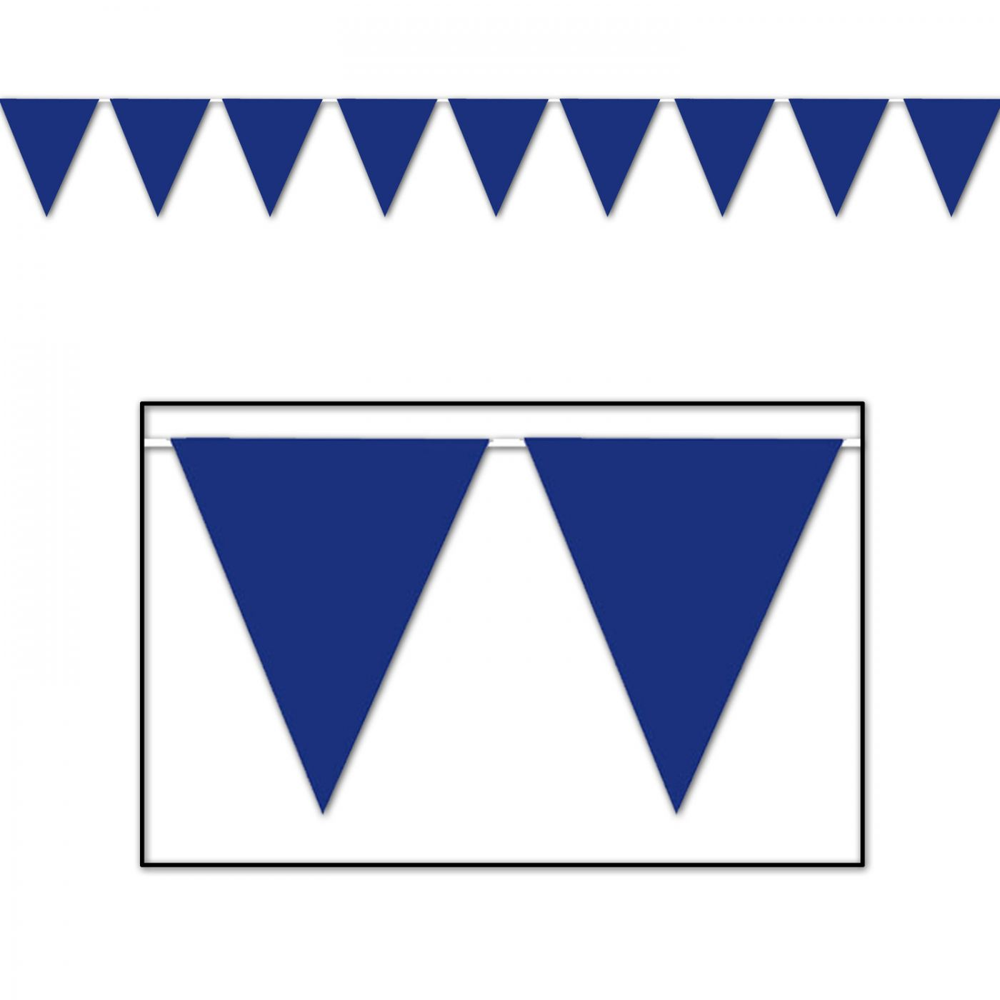 Image of Blue Pennant Banner