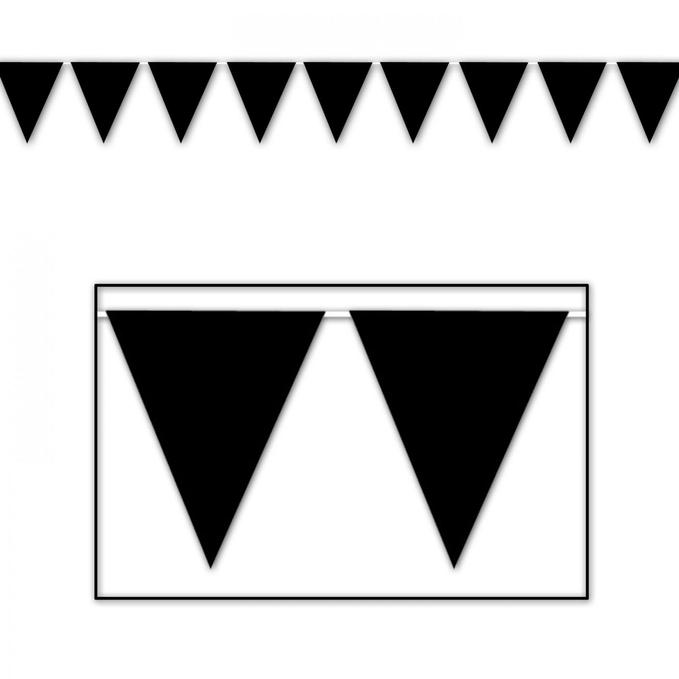 Image of Black Pennant Banner