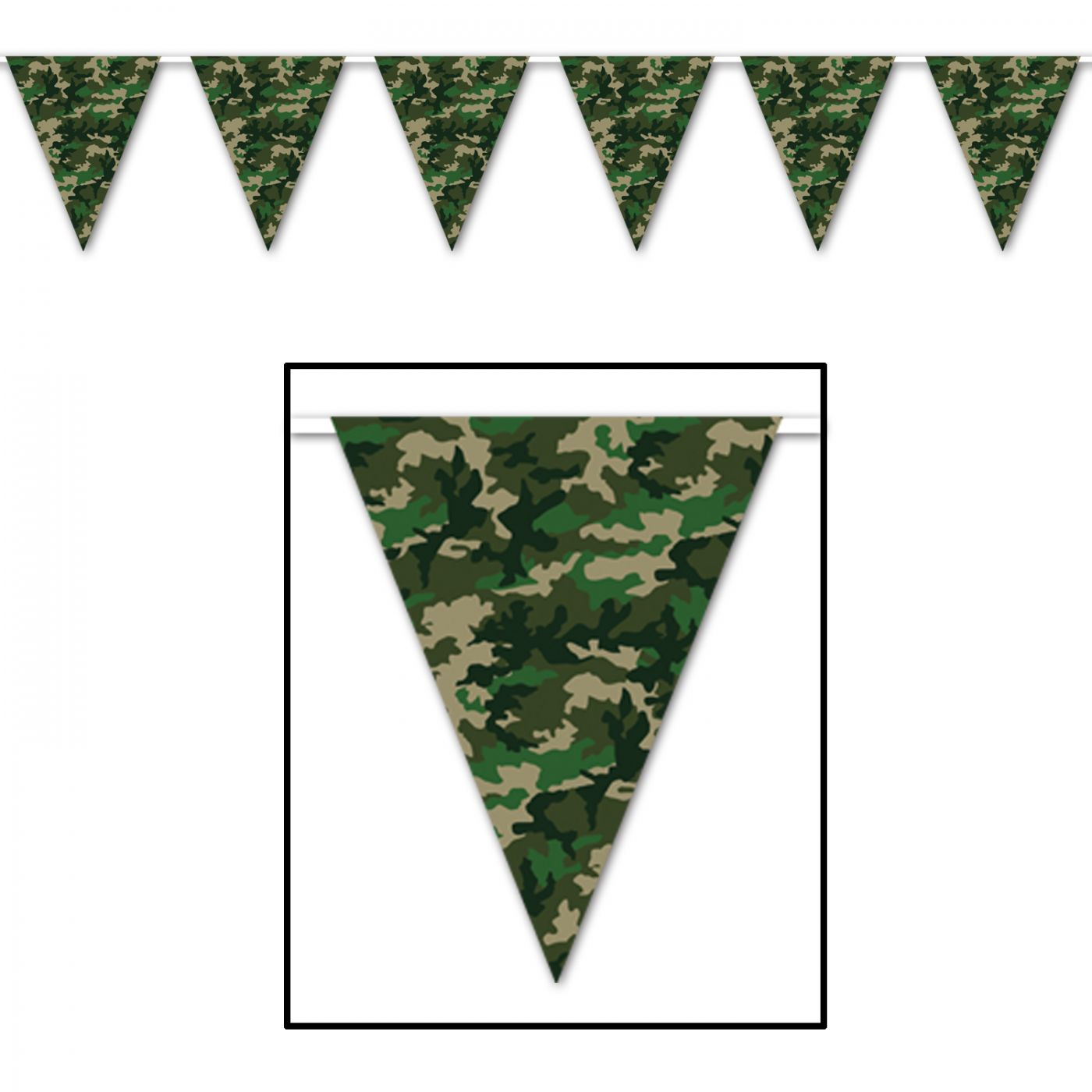 Camo Pennant Banner image