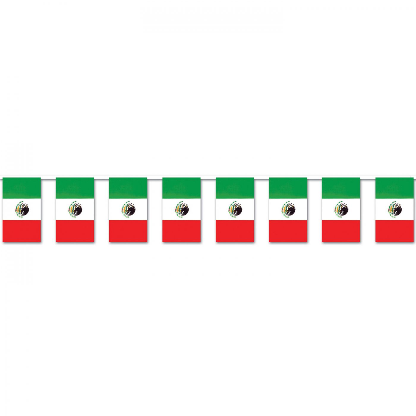 Mexican Flag Pennant Banner image