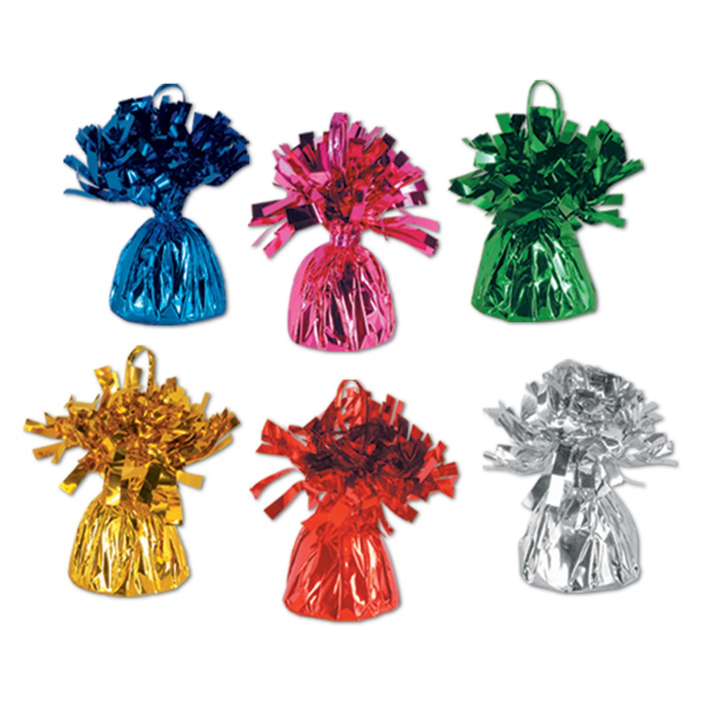 Metallic Wrapped Balloon Weights image
