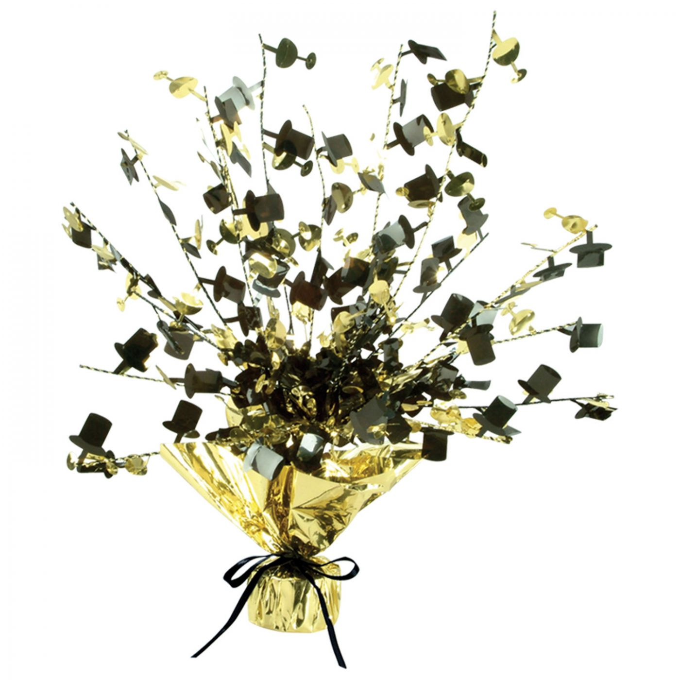 Champagne Glass & Top Hat Centerpiece image