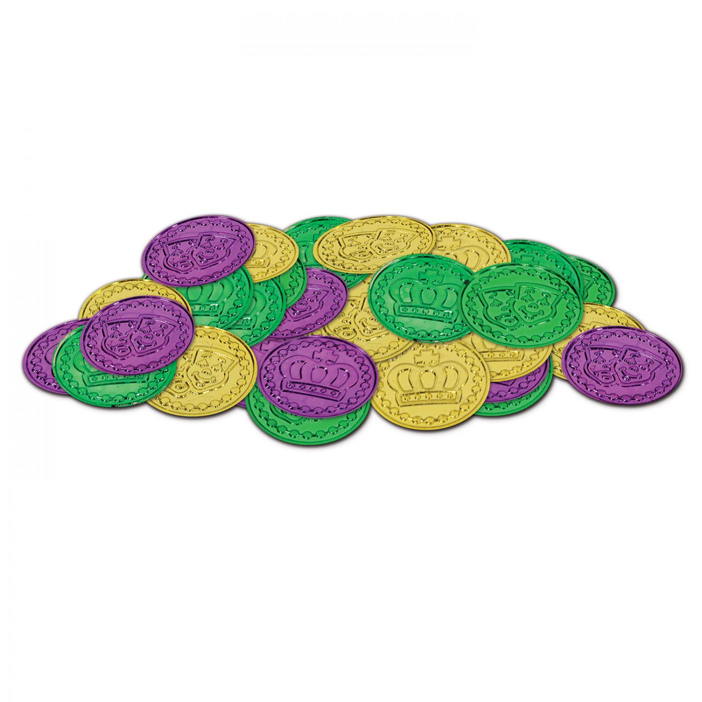 Mardi Gras Plastic Coins image