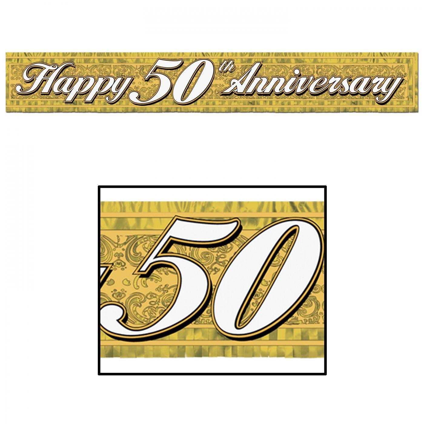 Metallic 50th Anniversary Fringe Banner image