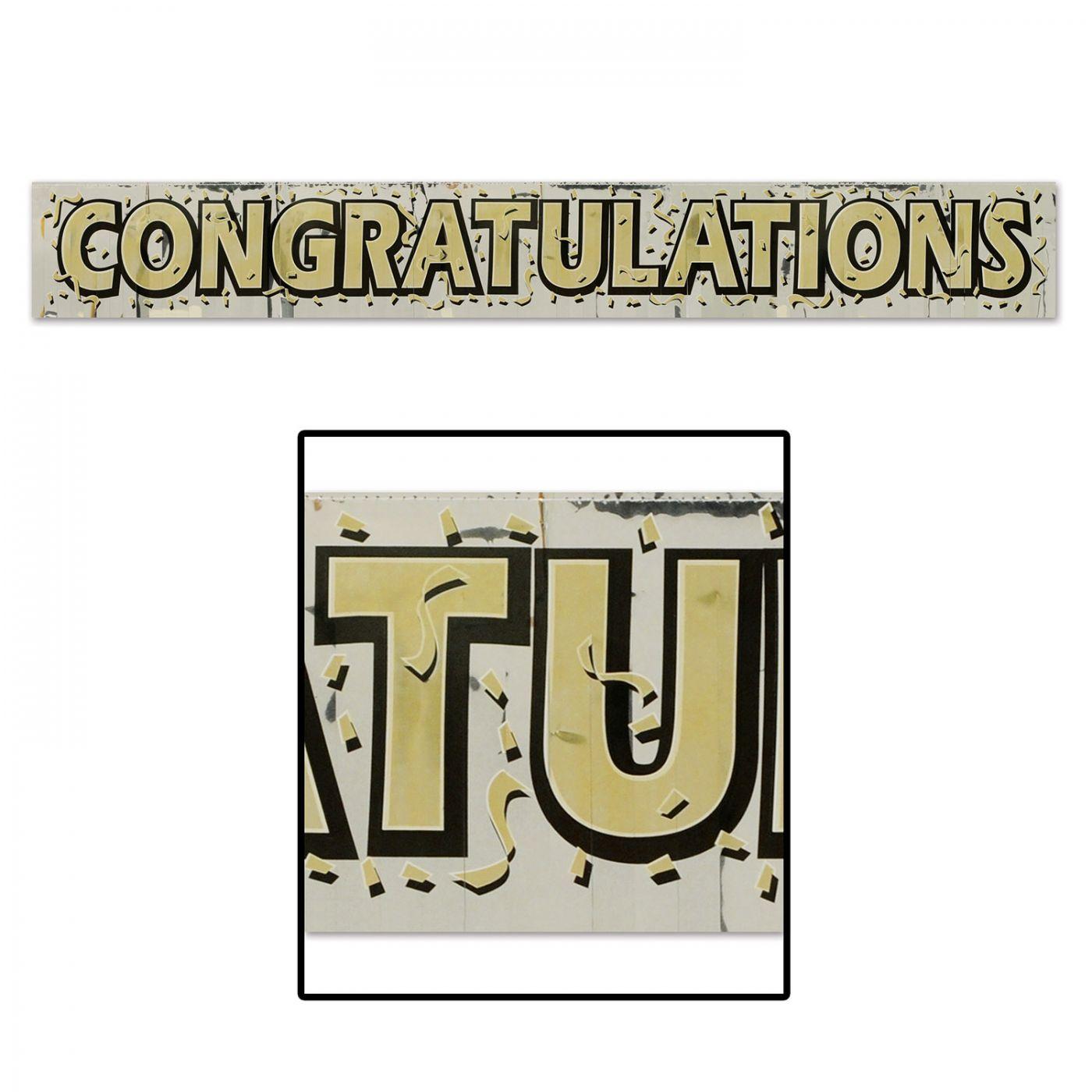 Image of Metallic Congratulations Fringe Banner