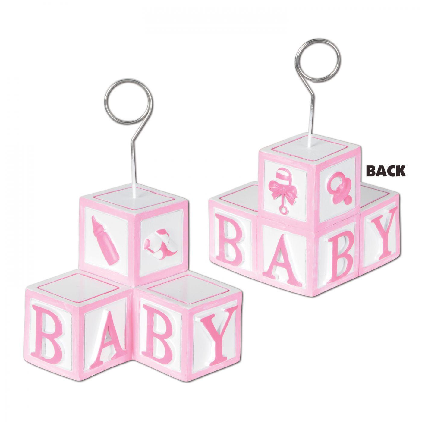 Image of Baby Blocks Photo/Balloon Holder (6)