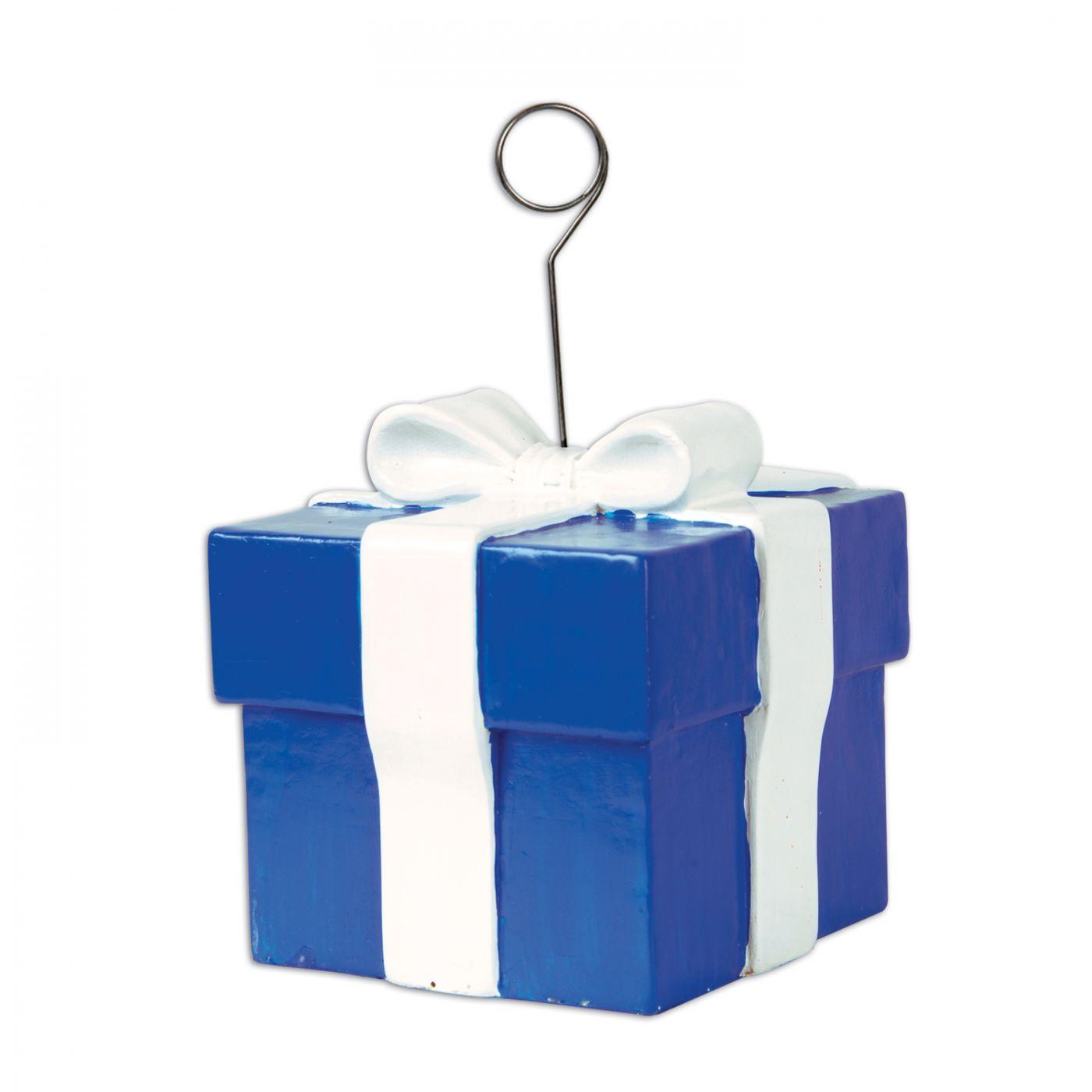 Image of Blue Gift Box Photo/Balloon Holder (6)