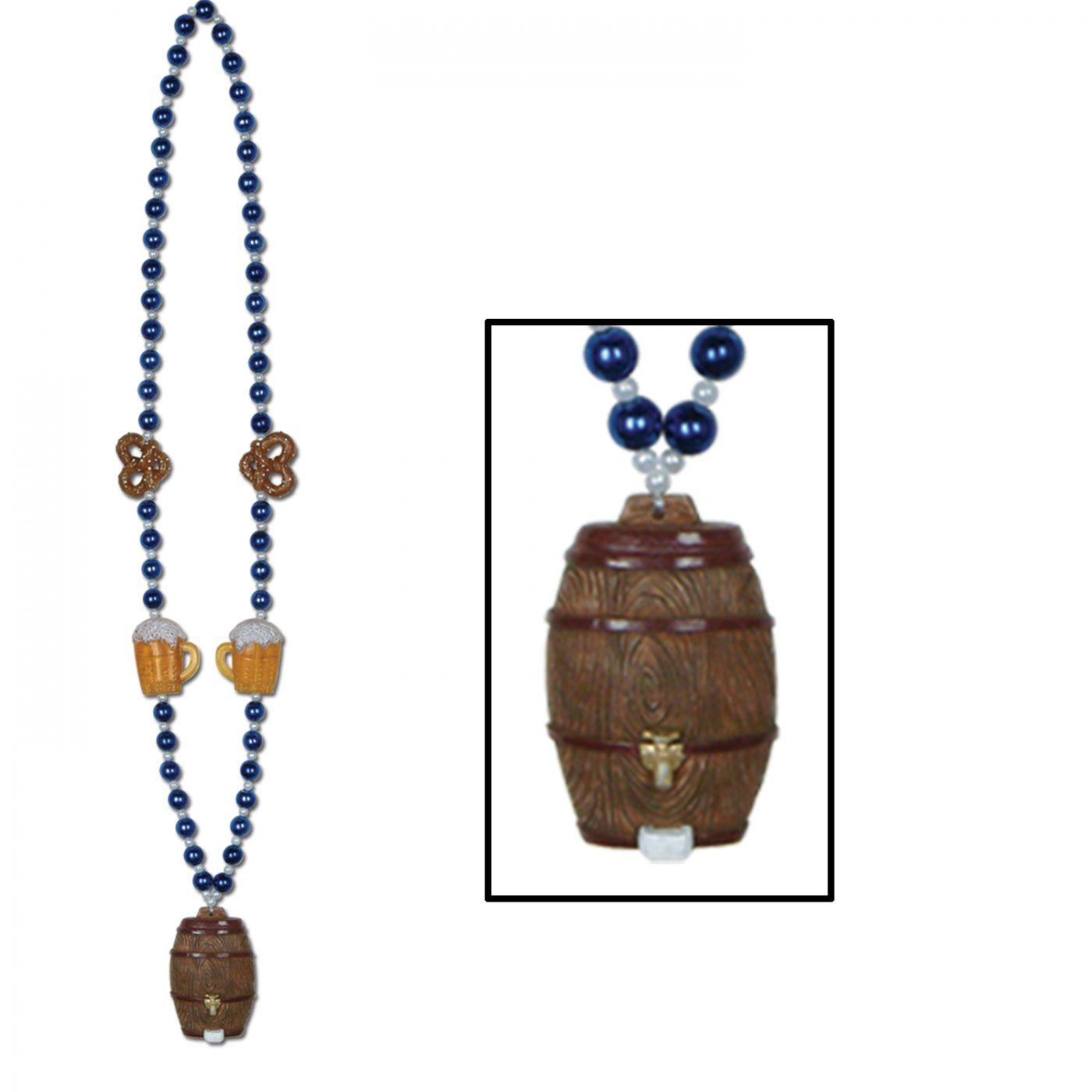 Oktoberfest Beads w/Keg Medallion image